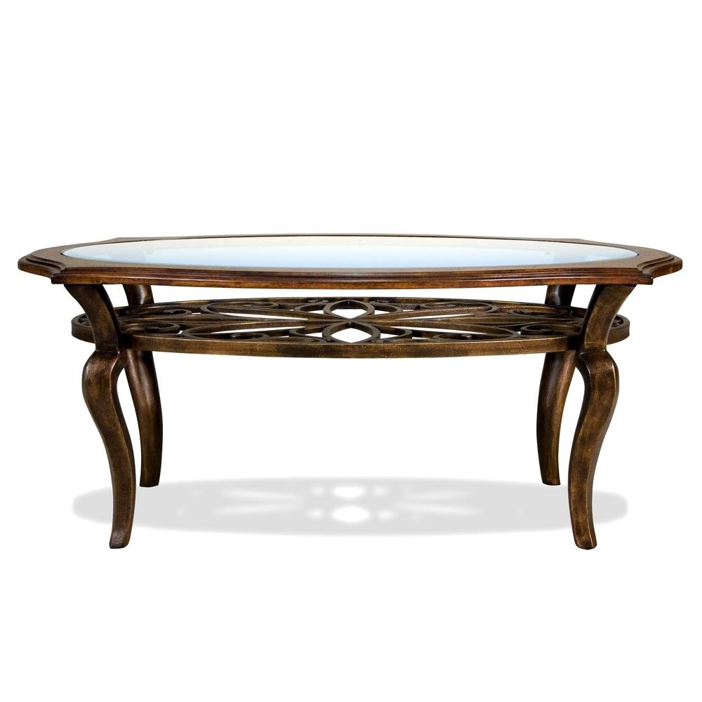 Riverside Furniture Serena Oval Coffee / Cocktail Table – Ahfa With Regard To 2018 Exton Cocktail Tables (View 13 of 20)