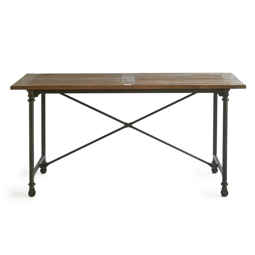 Riviera Maison Brooklyn Dining Table Reclaimed Elm Iron 160x80cm Inside Well Known Reclaimed Elm Iron Coffee Tables (View 12 of 20)