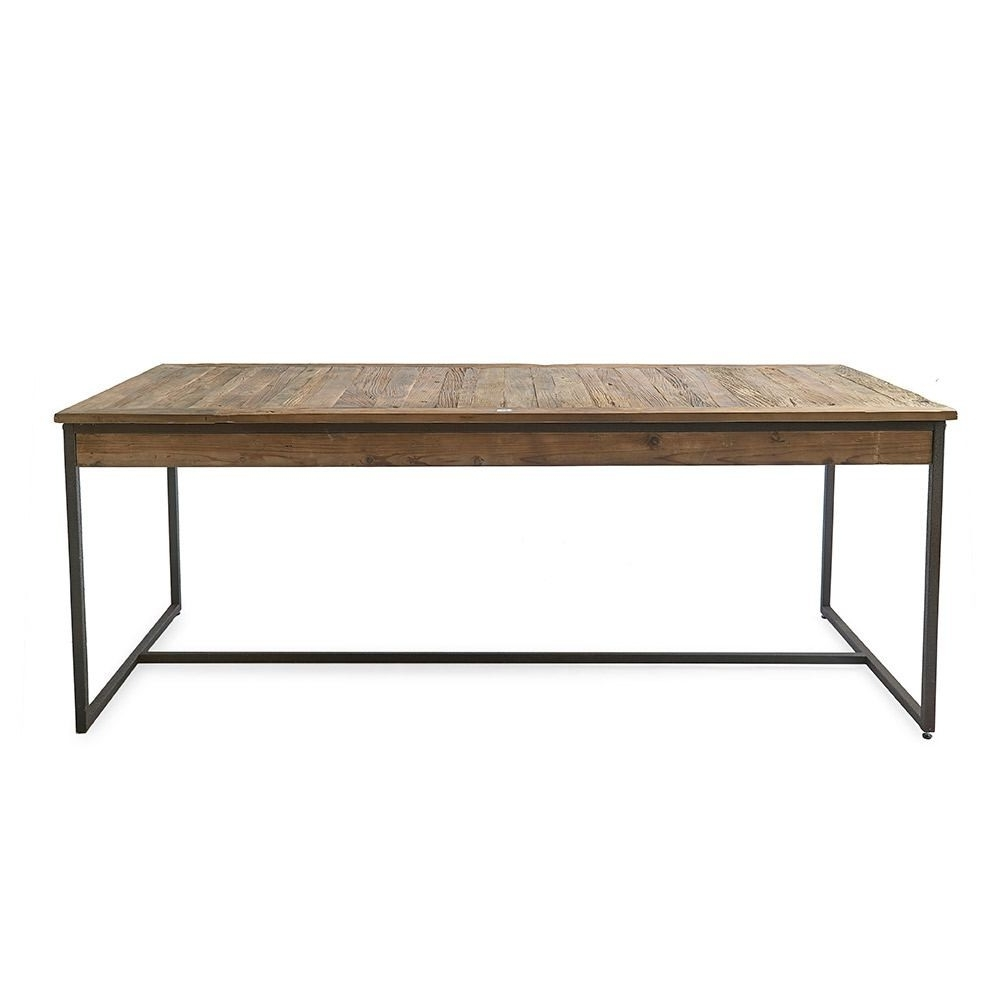 Riviera Maison Shelter Island Dining Table Elm Wood Iron 200X90Cm Throughout Most Popular Shelter Cocktail Tables (View 15 of 20)