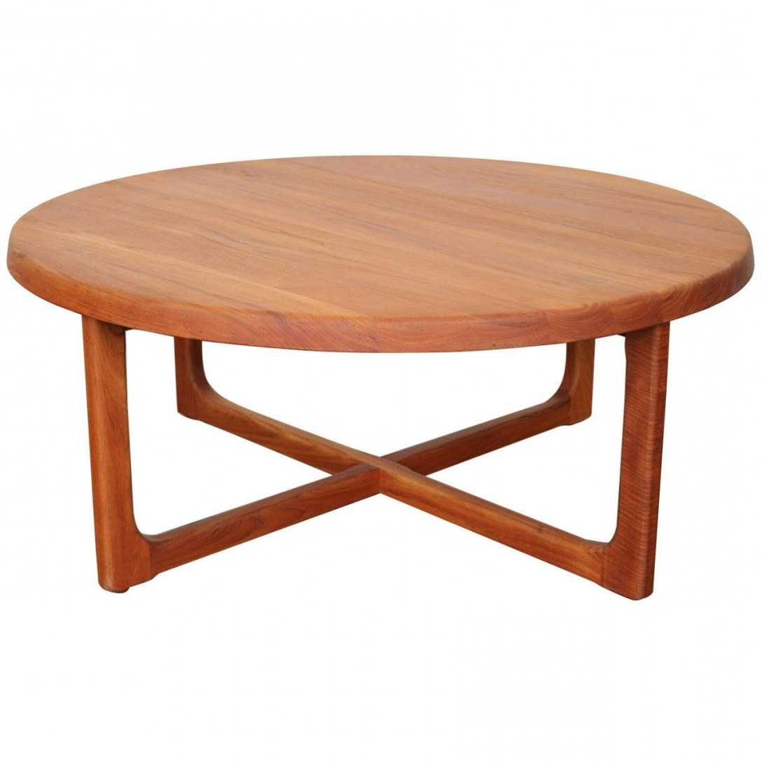 Round Teak Coffee Table – Writehookstudio Regarding Round Coffee Pertaining To Recent Round Teak Coffee Tables (View 2 of 20)