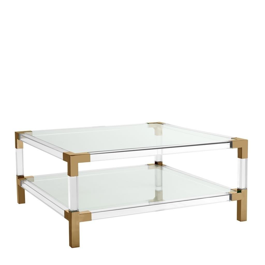 Royalton Acrylic & Brass Coffee Table (View 4 of 20)