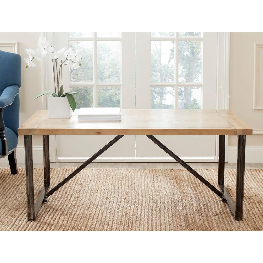 Safavieh Chase Light Oak Stain Coffee Table Amh4129A – The Home Depot Pertaining To 2018 Light Natural Coffee Tables (View 16 of 20)