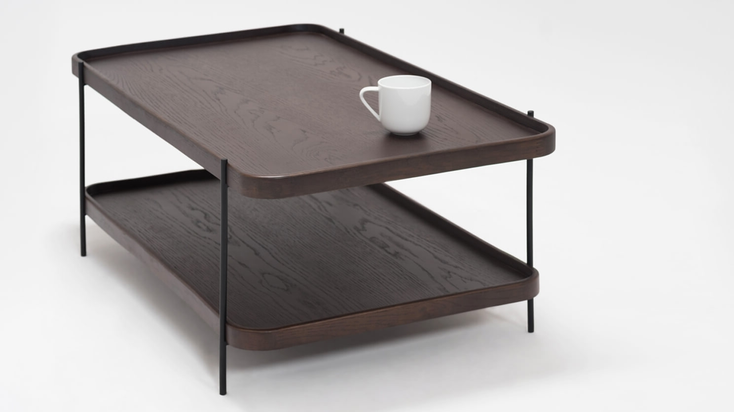 Sage Rectangle Coffee Table – Smoked Oak (View 5 of 20)