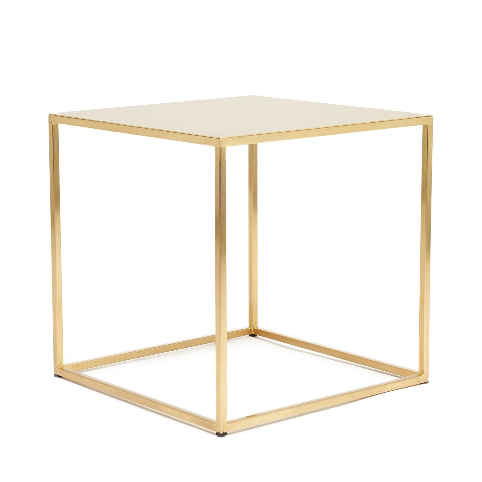 Satin With Regard To Most Recent Brass Iron Cube Tables (View 8 of 20)