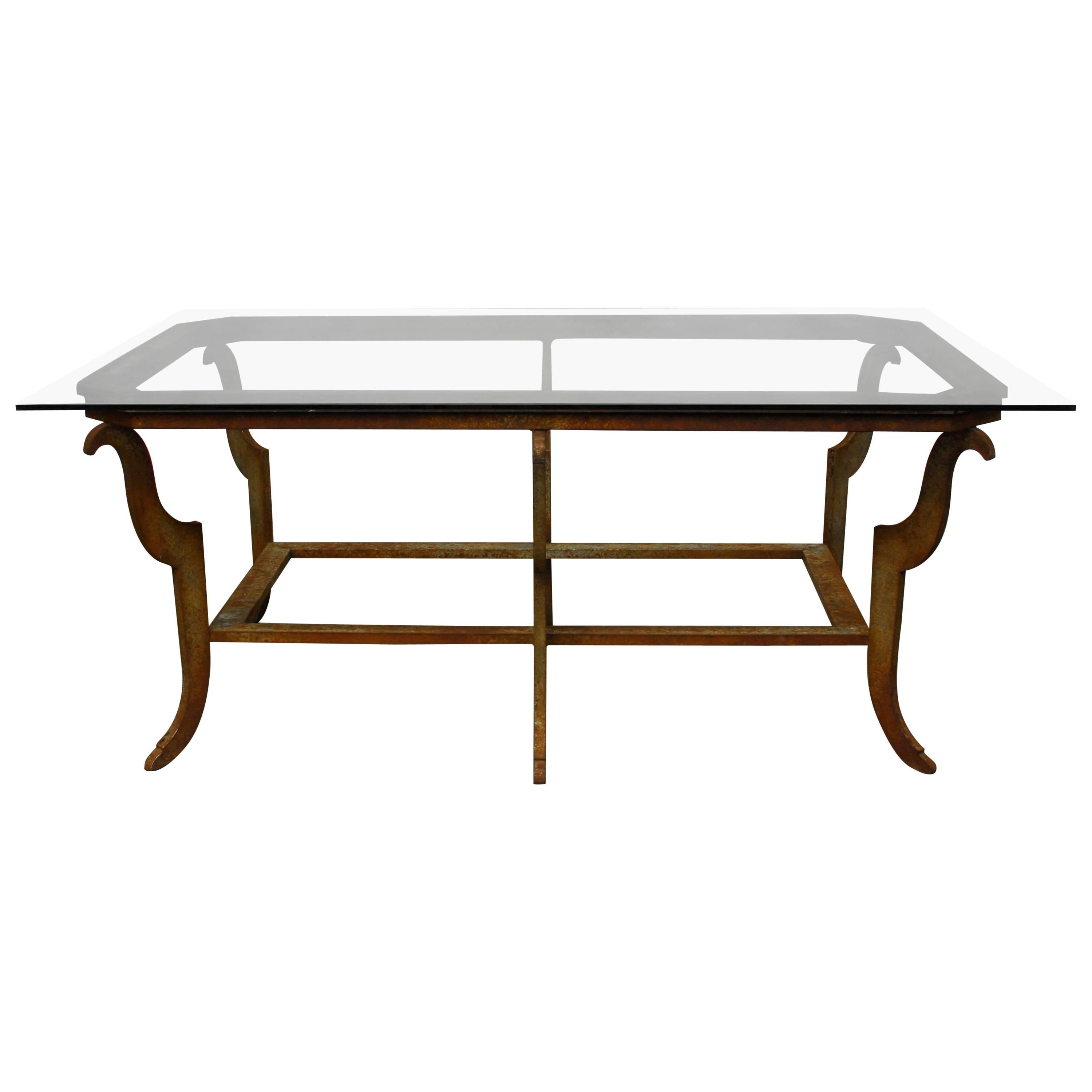 Sculpted Steel Patinated Coffee Table For Sale At 1stdibs Pertaining To Preferred Rectangular Barbox Coffee Tables (View 6 of 20)
