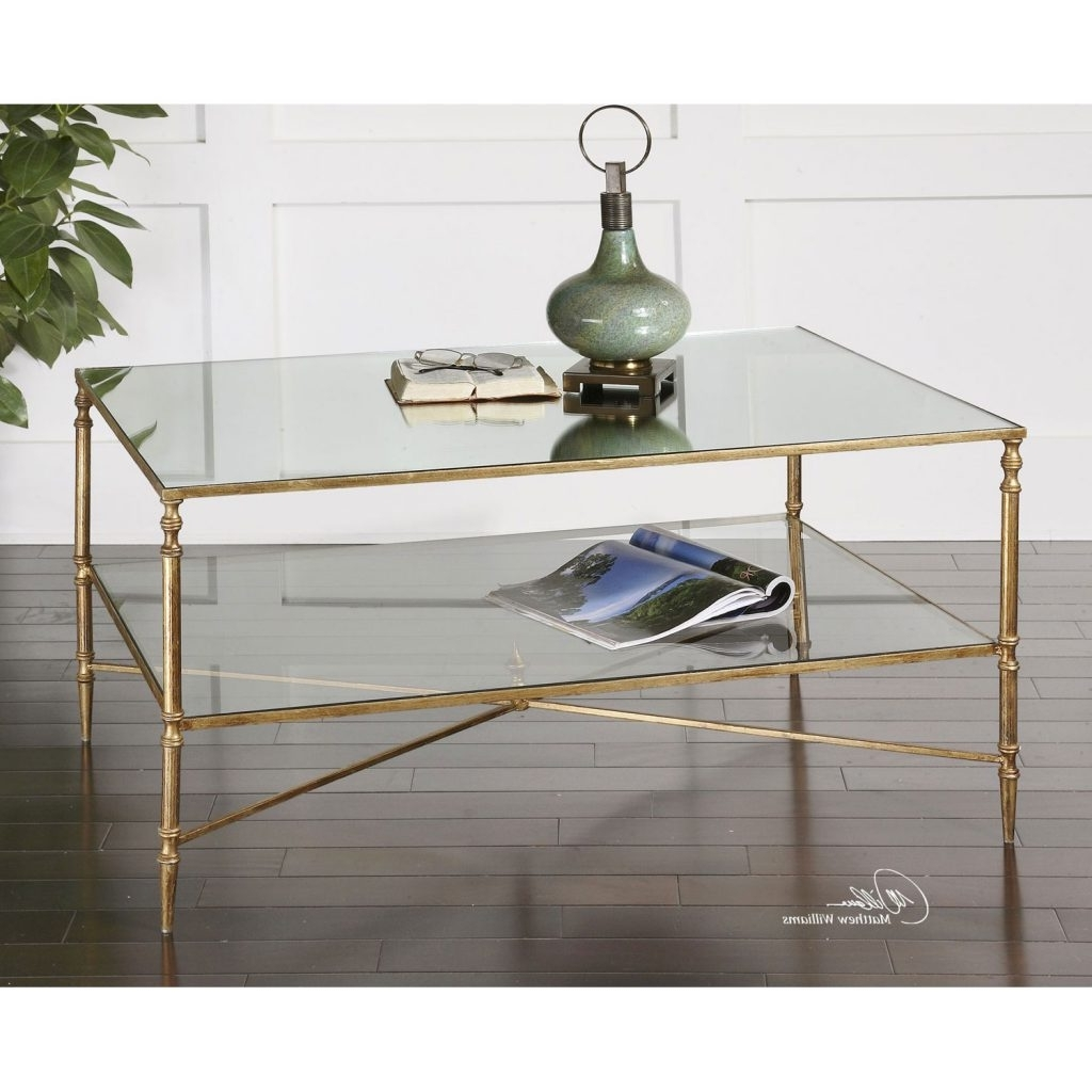 Shining Ideas Gold Coffee Tables Uttermost Henzler Table 24276 Intended For Well Known Cuff Hammered Gold Coffee Tables (View 10 of 20)