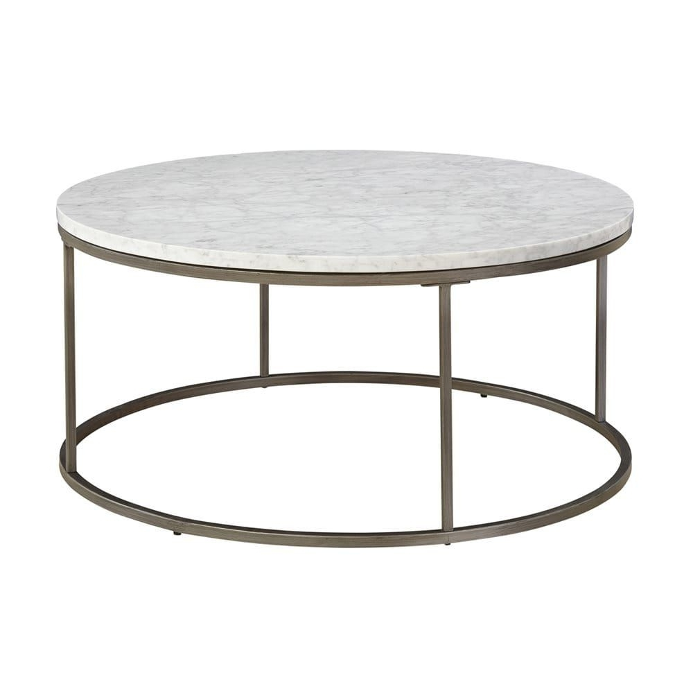 Shop Casana 836 075, Mbw 075 Alana Round White Marble Top Coffee In Best And Newest Smart Round Marble Top Coffee Tables (View 17 of 20)