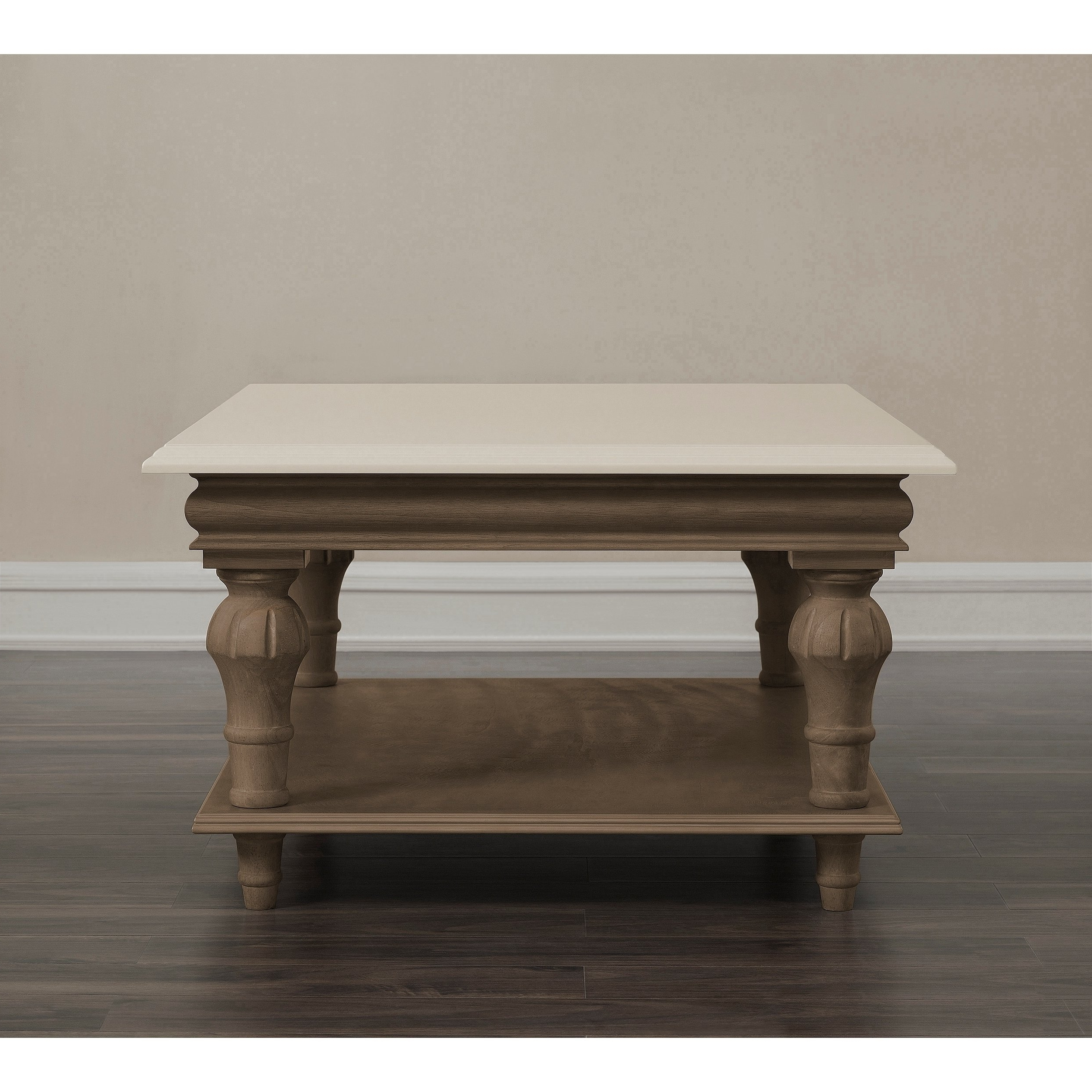 Shop Elements Cream Wood Coffee Table – Free Shipping Today For Widely Used Element Ivory Rectangular Coffee Tables (View 4 of 20)