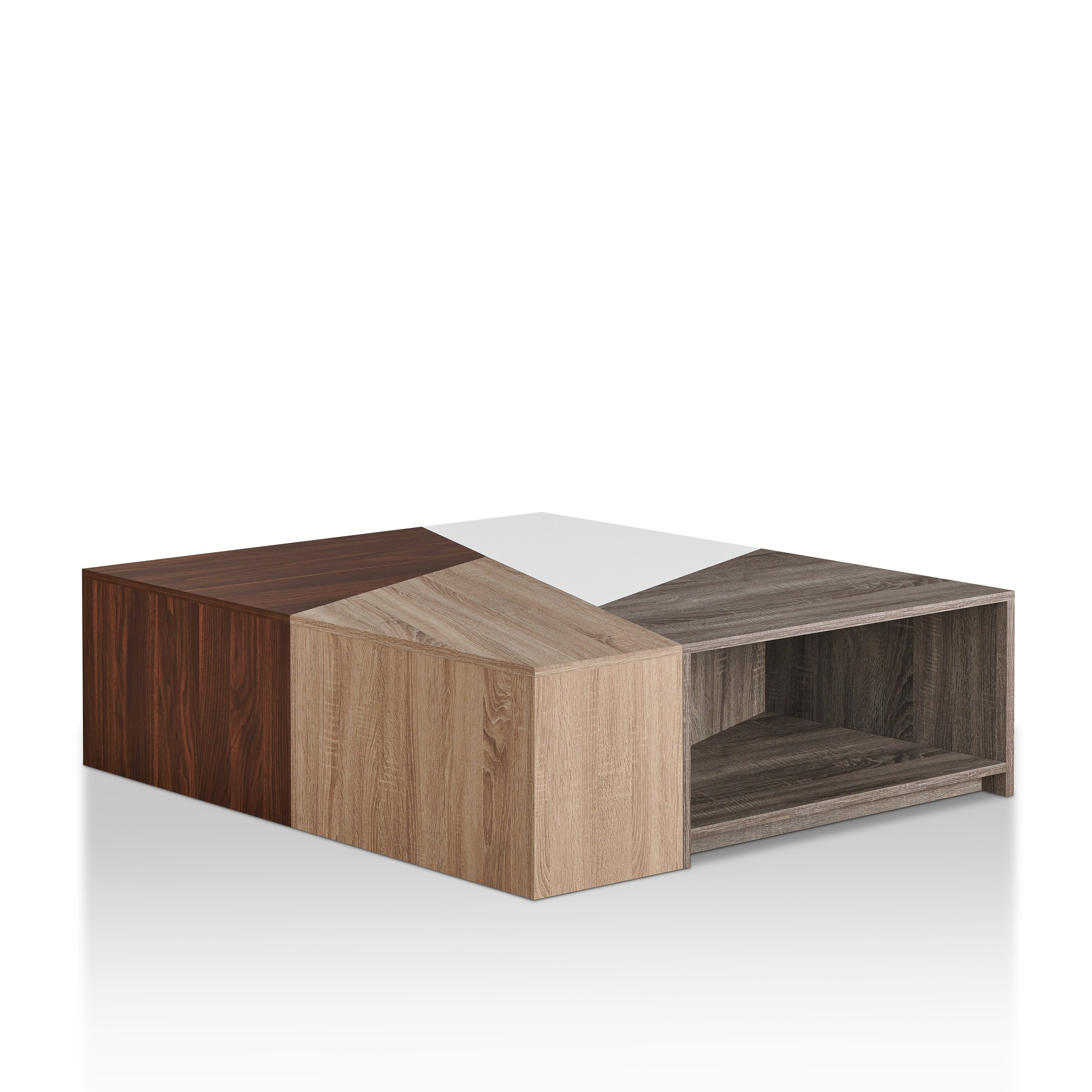 Shop Furniture Of America Deron Contemporary Multi Colored Modular For Best And Newest Modular Coffee Tables (View 16 of 20)