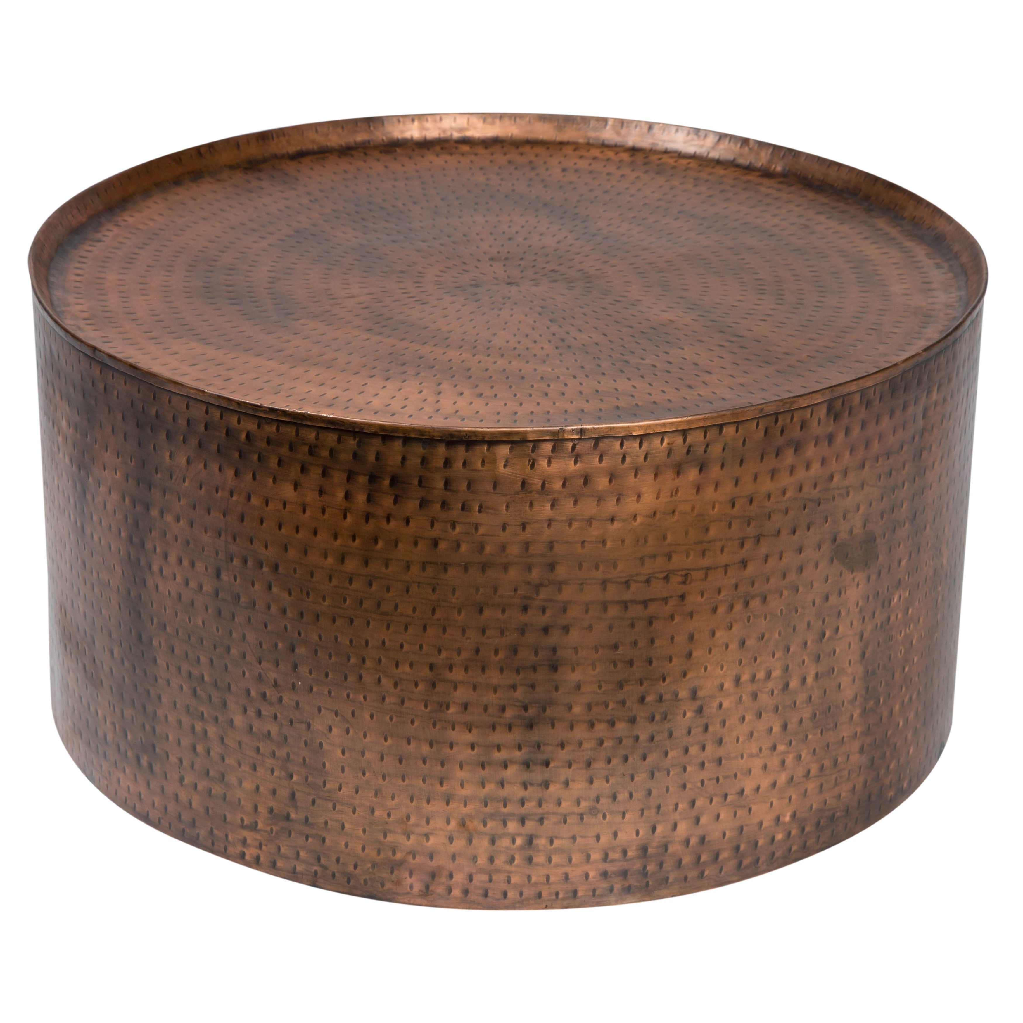 Shop Handmade Wanderloot Rotonde Hammered Antique Copper Metal Within Widely Used Cuff Hammered Gold Coffee Tables (View 14 of 20)