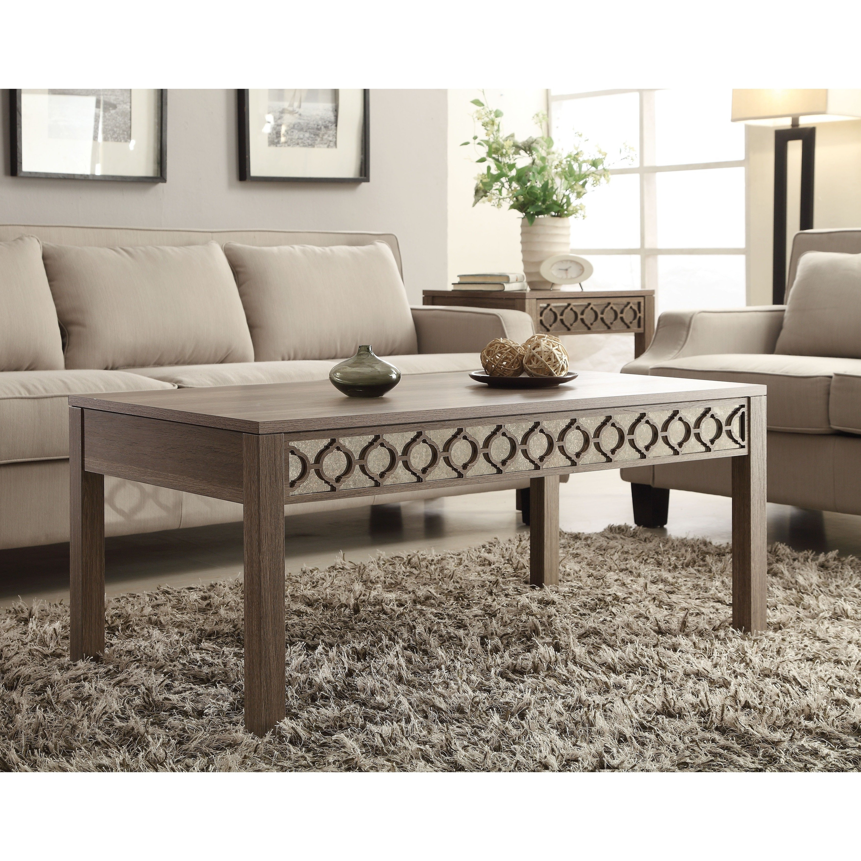Shop Helena Sun Bleached Oak Coffee Table – Free Shipping Today With Preferred Lassen Square Lift Top Cocktail Tables (View 15 of 20)