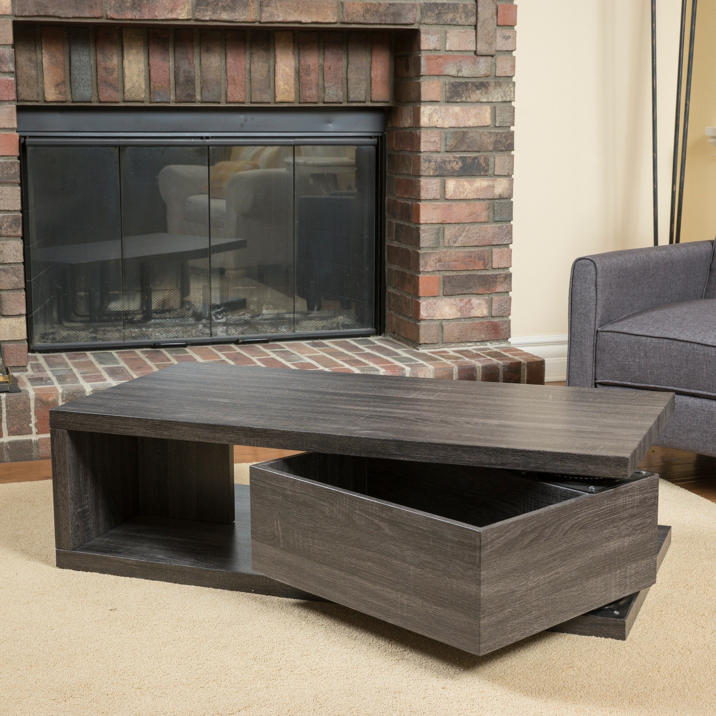 Shop Jack Rectangular Rotating Wood Coffee Tablechristopher Regarding Well Known Spin Rotating Coffee Tables (View 12 of 20)