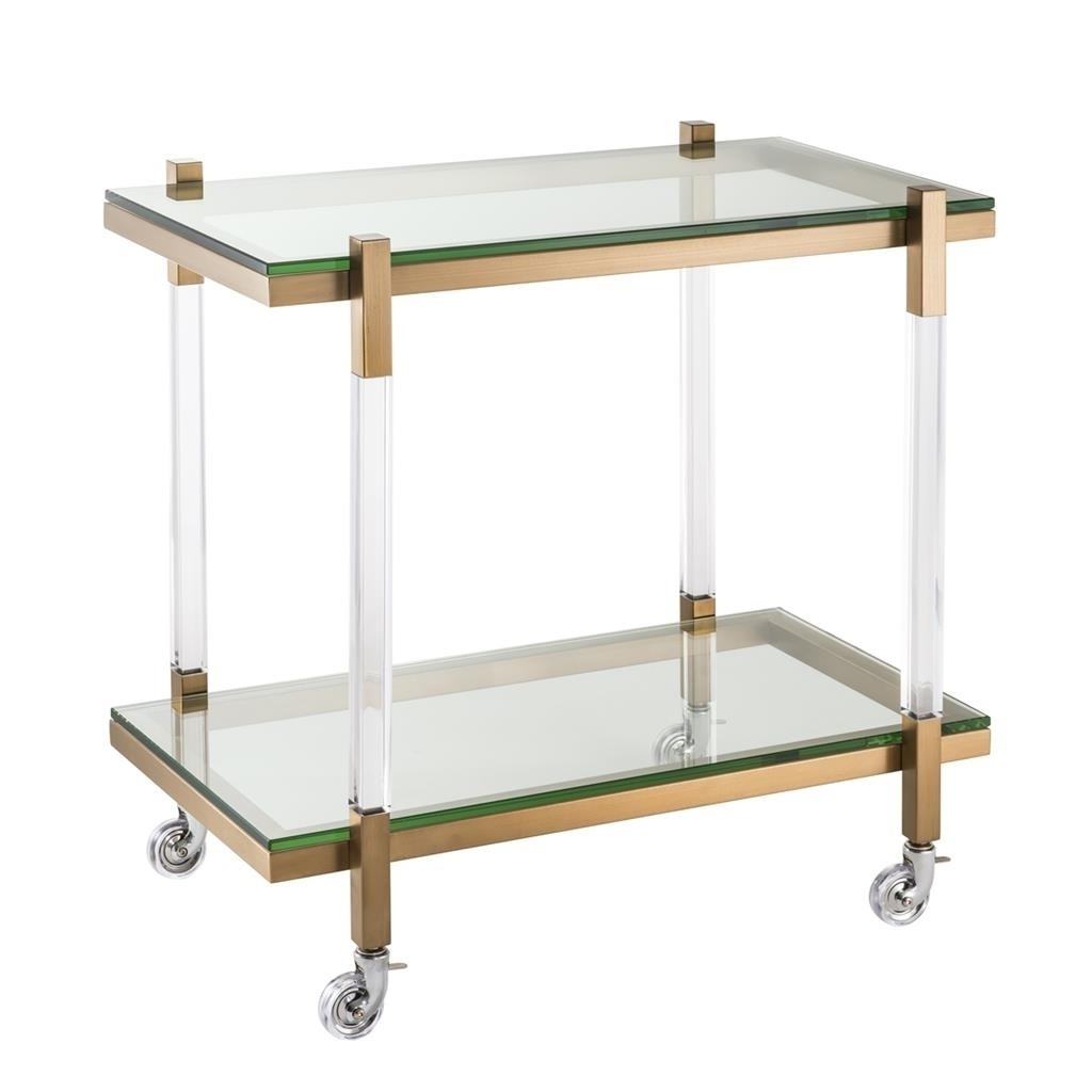 Shop Now In Famous Acrylic & Brushed Brass Coffee Tables (View 15 of 20)