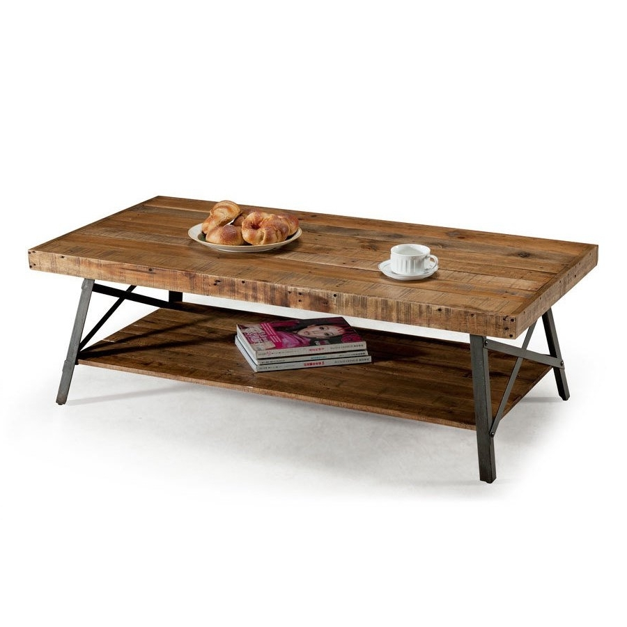 Shop Rustic Reclaimed Wood Coffee Table – Free Shipping On Orders Within Well Liked Reclaimed Pine & Iron Coffee Tables (View 13 of 20)