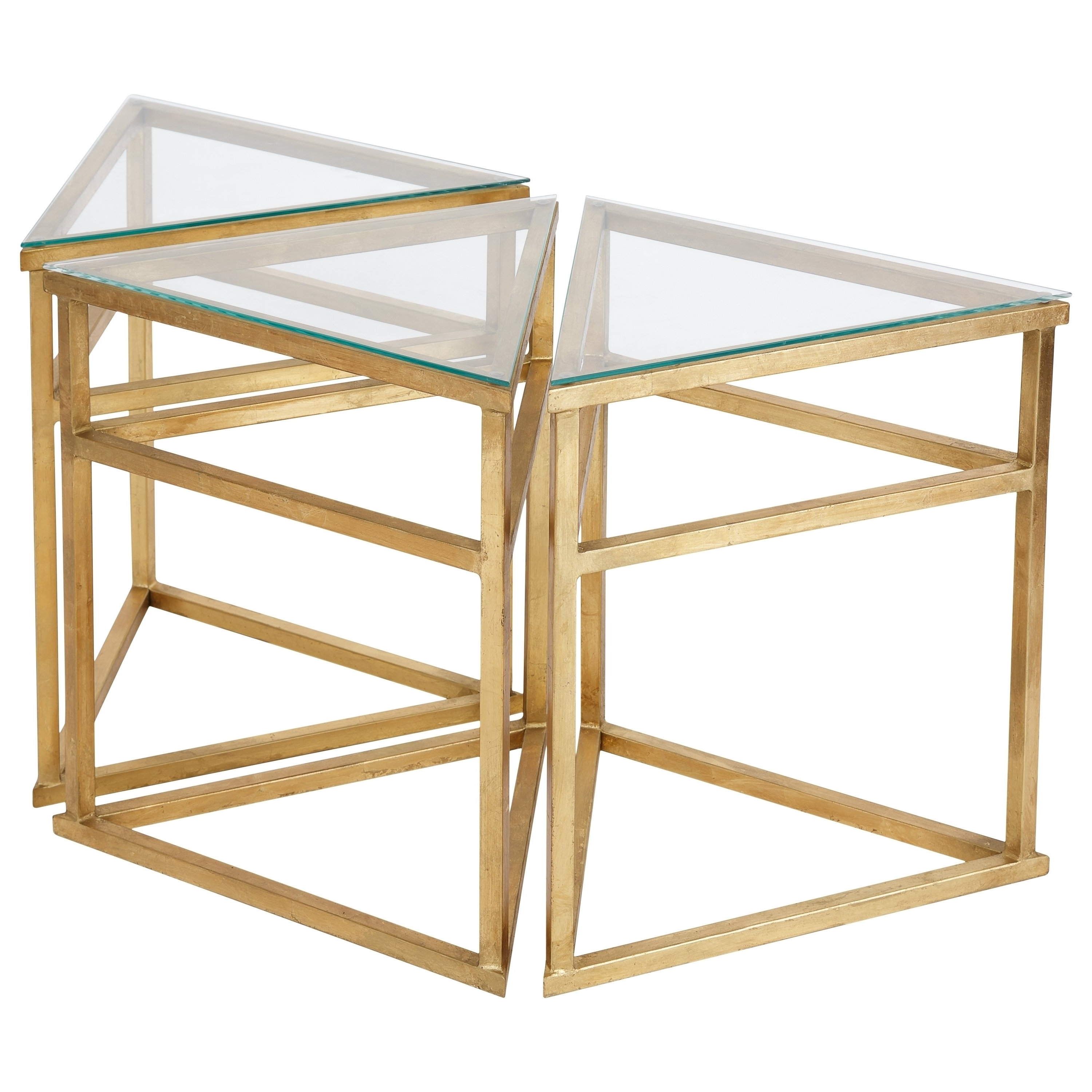 Shop Safavieh Couture High Line Collection Caliope Gold Leaf Within Well Known Gold Leaf Collection Coffee Tables (View 16 of 20)