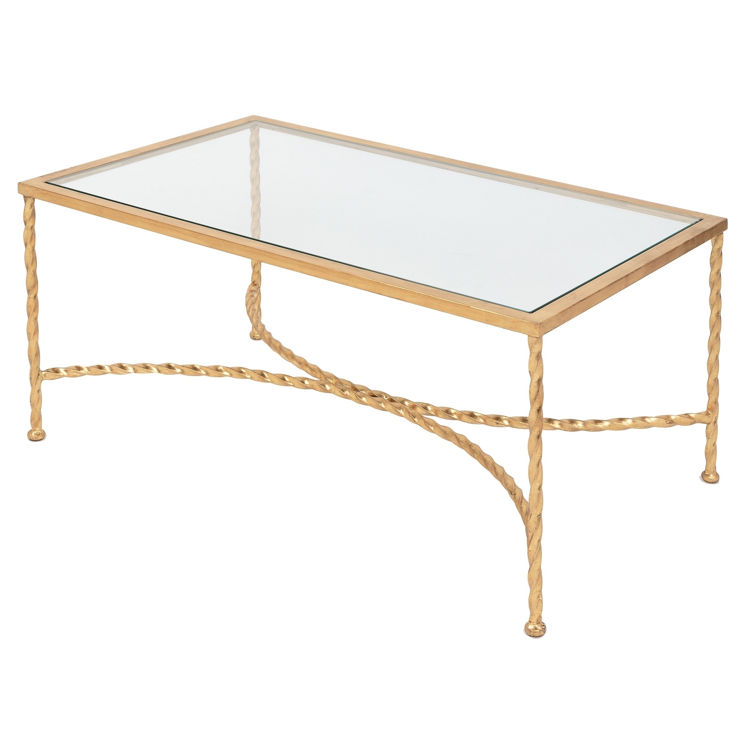 Shop Safavieh Couture High Line Collection Matilda Gold Leaf Coffee Pertaining To Trendy Gold Leaf Collection Coffee Tables (View 17 of 20)