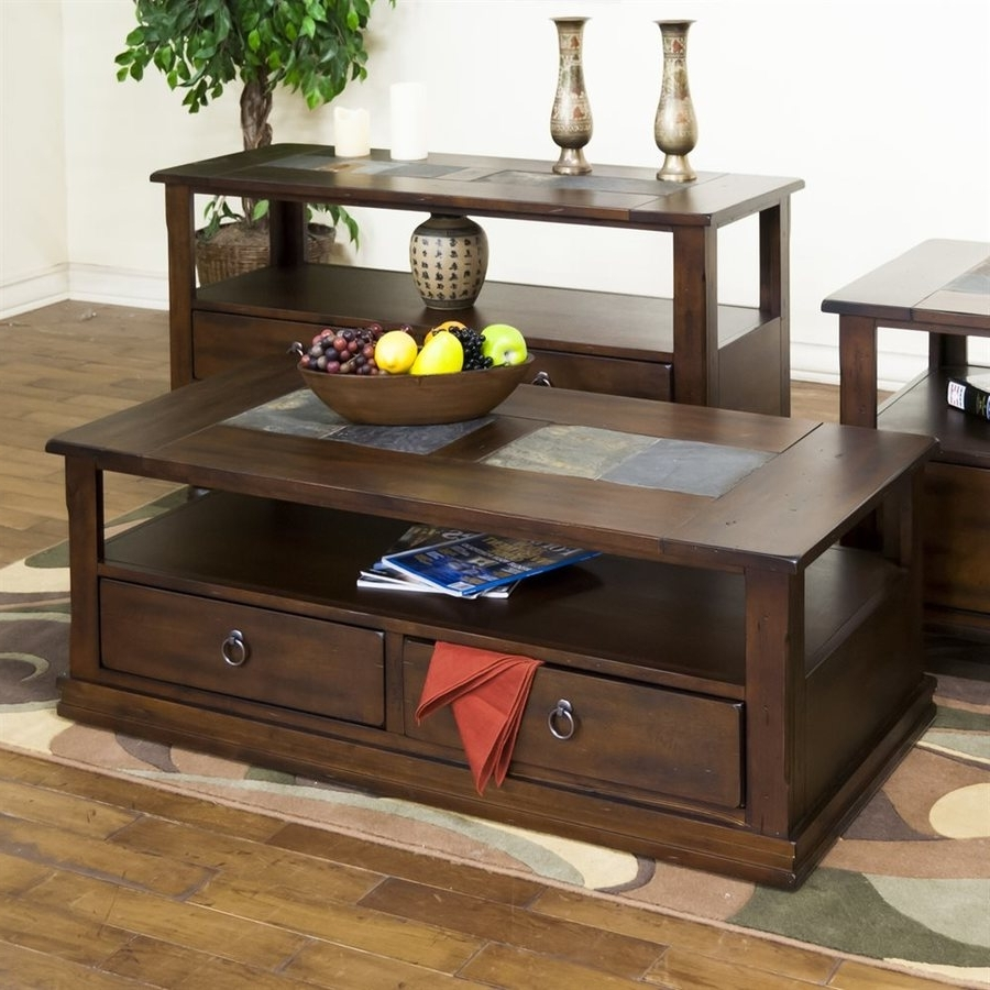 Shop Sunny Designs Santa Fe Dark Chocolate Coffee Table At Lowes Intended For Latest Santa Fe Coffee Tables (View 12 of 20)