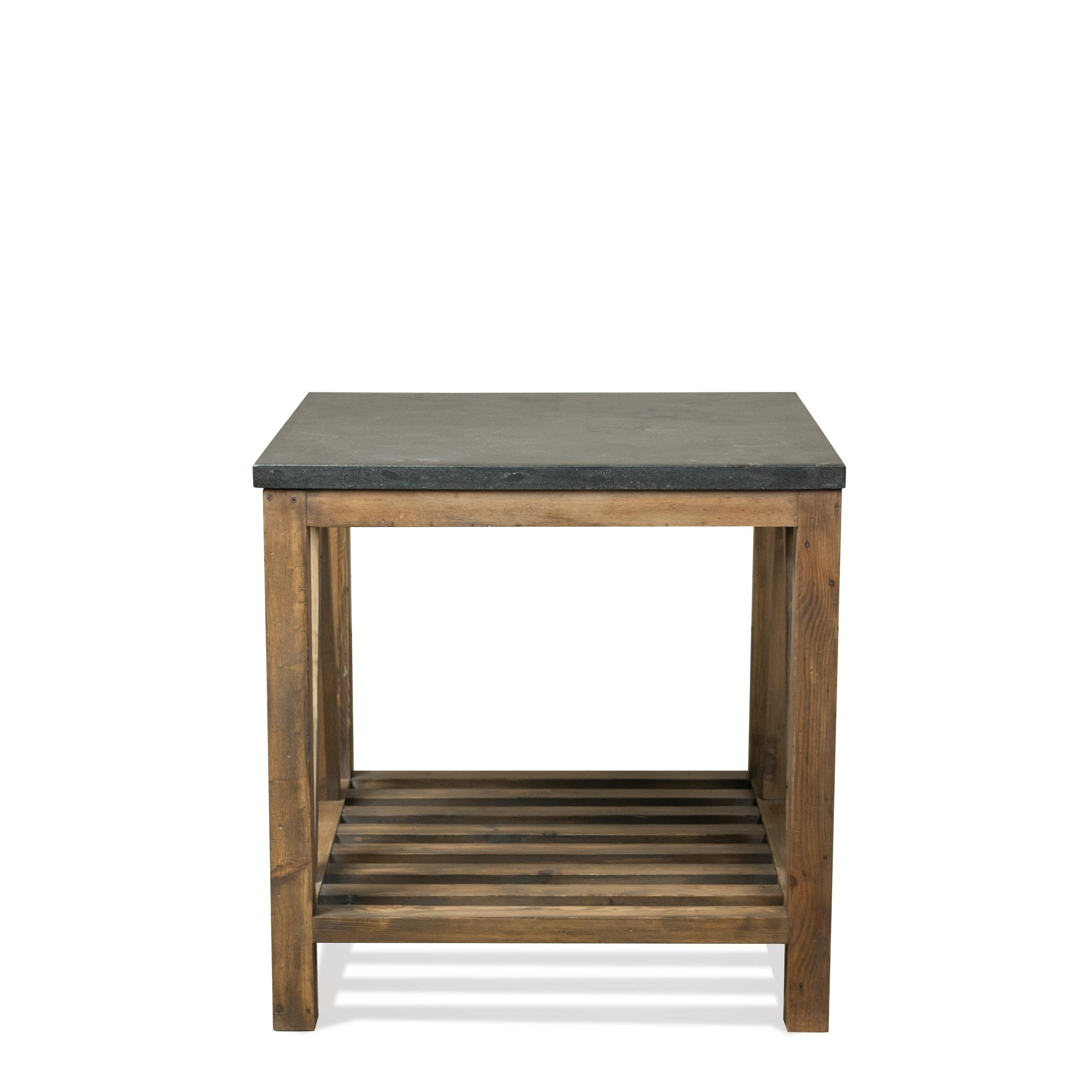 Shop Weatherford Rectangle End Table Bluestone Top Only – Free For Latest Bluestone Rustic Black Coffee Tables (View 18 of 20)
