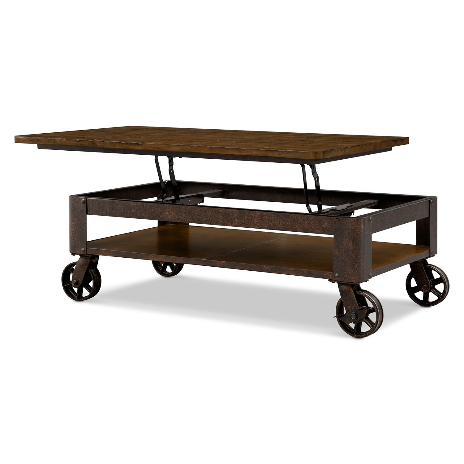 Shortline Lift Top Cocktail Table – Distressed Pine (View 11 of 20)