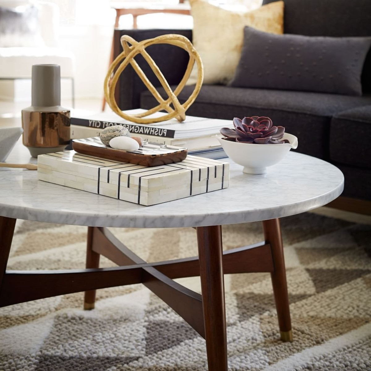 Smart Round Marble Coffee Table — Inside Houses : Round Marble With Regard To Recent Smart Round Marble Brass Coffee Tables (View 7 of 20)