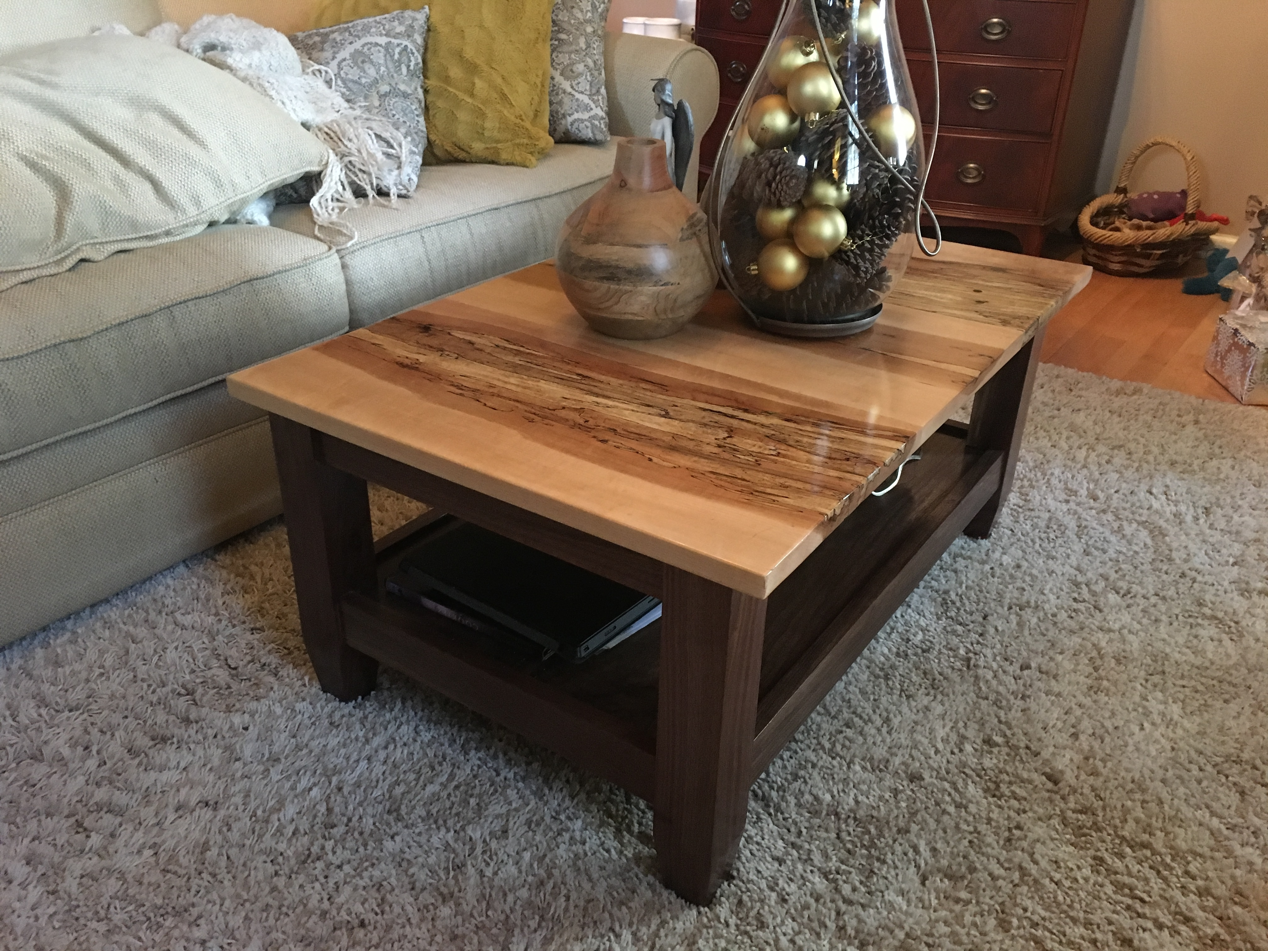 Spalted Maple Coffee Table – Album On Imgur Within Most Popular Walnut Finish 6 Drawer Coffee Tables (View 19 of 20)