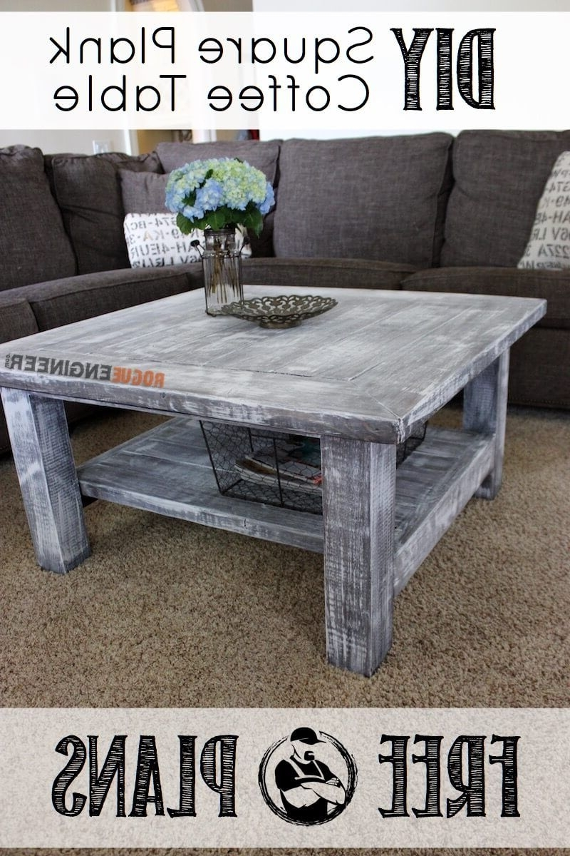 Square Coffee Table W/ Planked Top { Free Diy Plans } (View 17 of 20)
