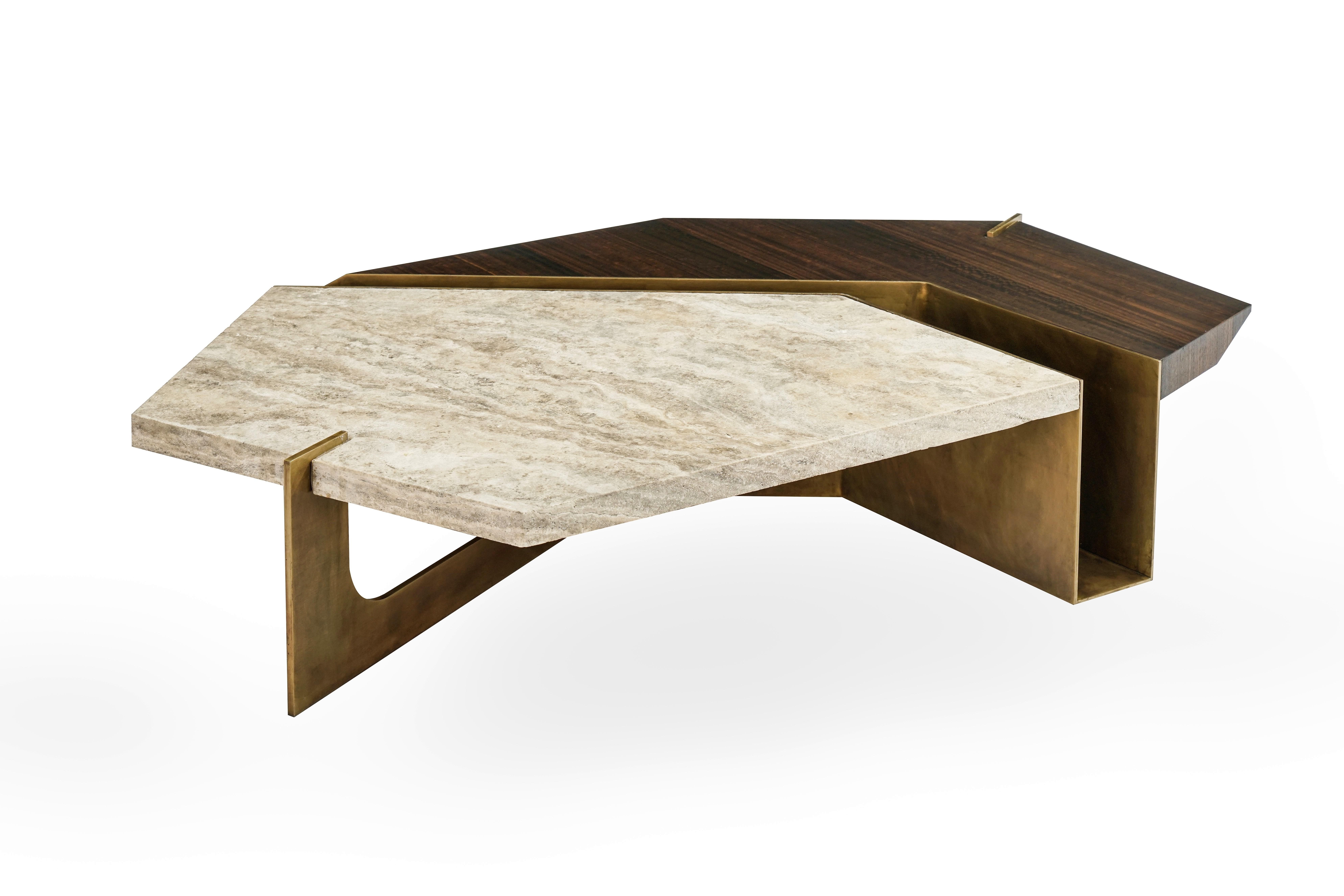 Stratus Coffee Table, Contemporary Centre Table In Aged Brass And In Well Known Stratus Cocktail Tables (View 14 of 20)