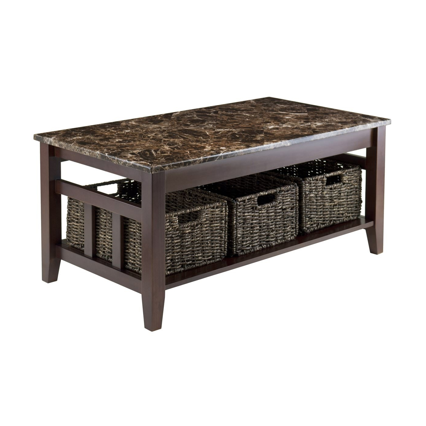 Stylish Faux Marble Coffee Table (View 14 of 20)