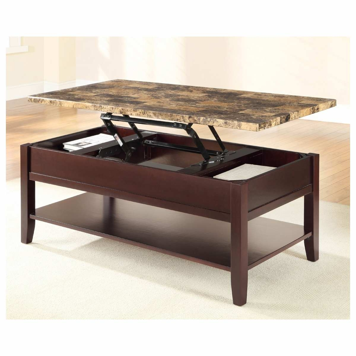 Stylish Faux Marble Coffee Table (View 10 of 20)