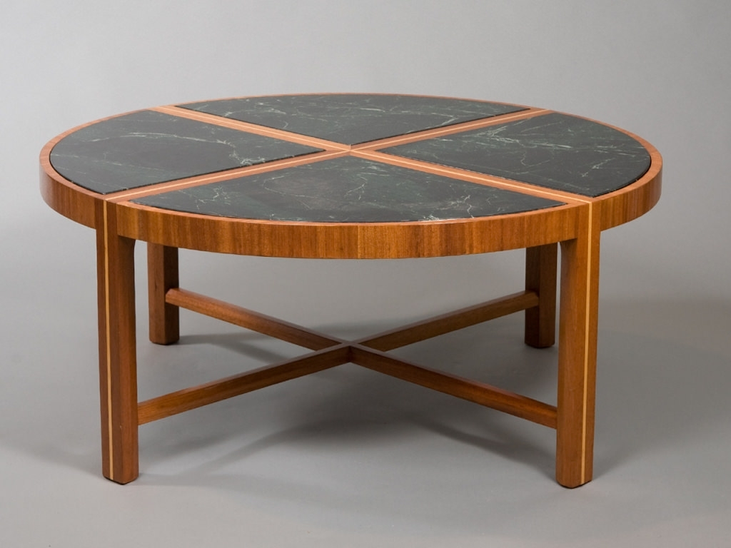 Stylish Round Marble Coffee Table — Sushi Ichimura Decor : Ideas Of Regarding Preferred Smart Round Marble Brass Coffee Tables (View 20 of 20)
