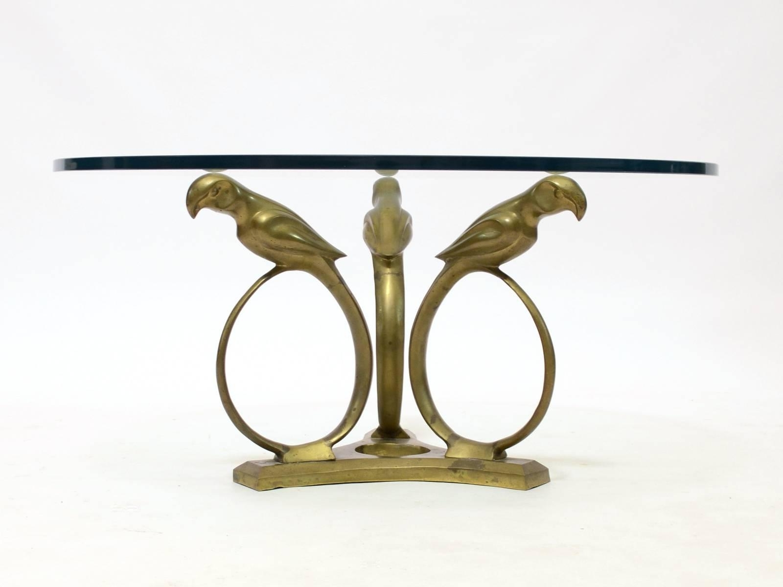Stylized Deco Moderne Brass Parrot Coffee Table For Sale At 1Stdibs In Newest Cacti Brass Coffee Tables (View 18 of 20)