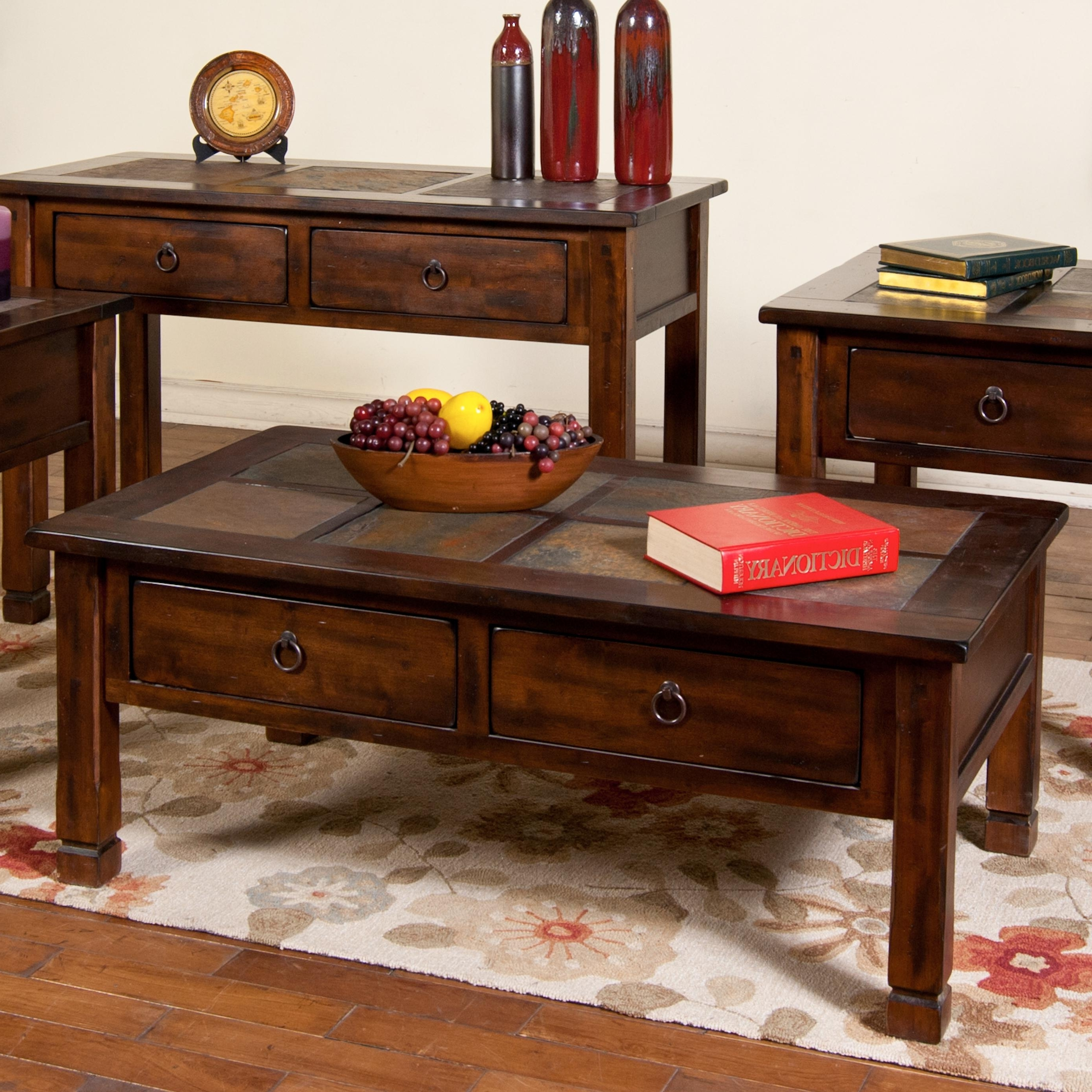 Sunny Designs Santa Fe 3143Dc Coffee Table With Slate Tiles And 2 With Famous Santa Fe Coffee Tables (View 15 of 20)