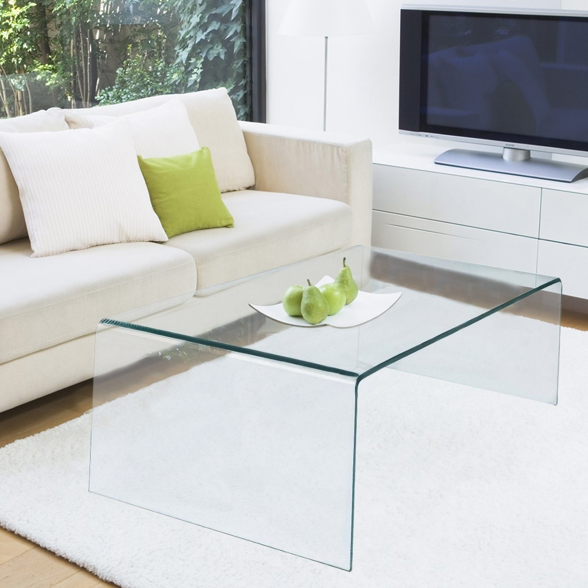 The Best Glass Coffee Tables Under $200 Intended For Recent Contemporary Curves Coffee Tables (View 15 of 20)