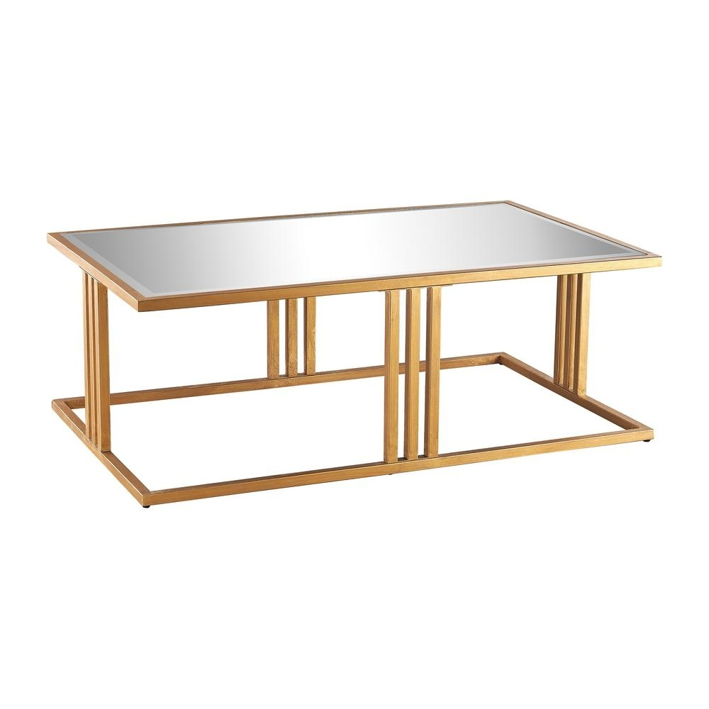 Titan Lighting Andy Gold Leaf And Mirror Coffee Table Tn 892432 In Trendy Gold Leaf Collection Coffee Tables (View 2 of 20)