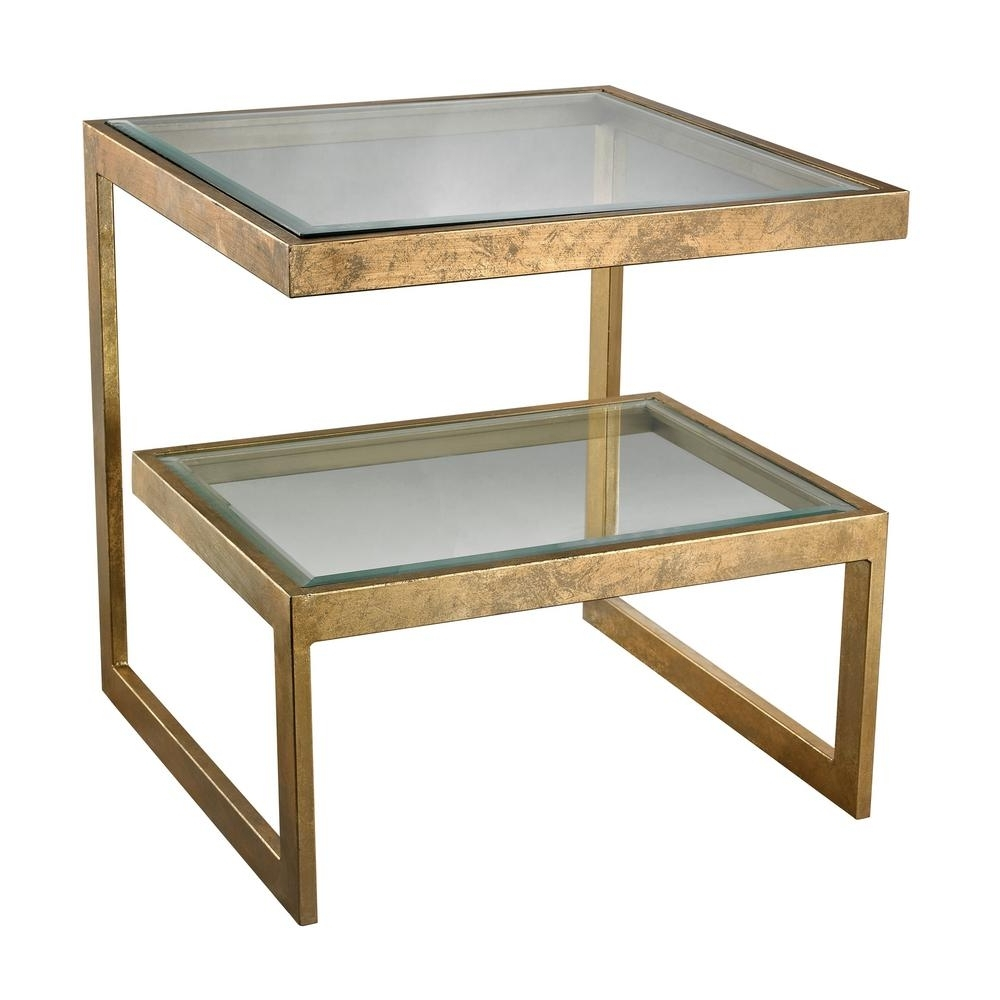 Titan Lighting Key Antique Gold Leaf Side Table Tn 892449 – The Home Regarding Most Up To Date Gold Leaf Collection Coffee Tables (View 20 of 20)