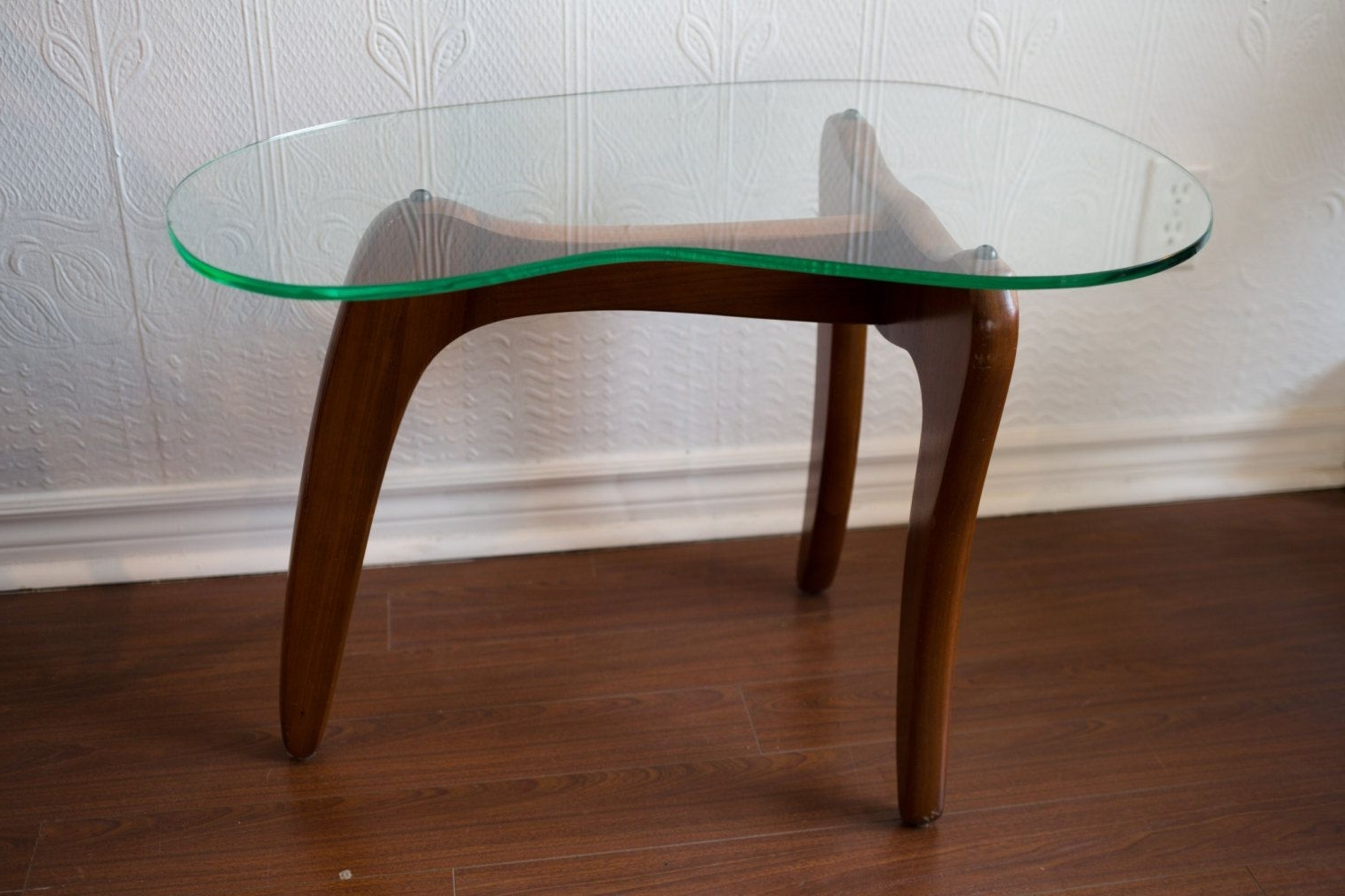 Toronto – Mid Century Modern Small Wood Coffee Table With Kidney With Regard To Widely Used Jelly Bean Coffee Tables (View 17 of 20)