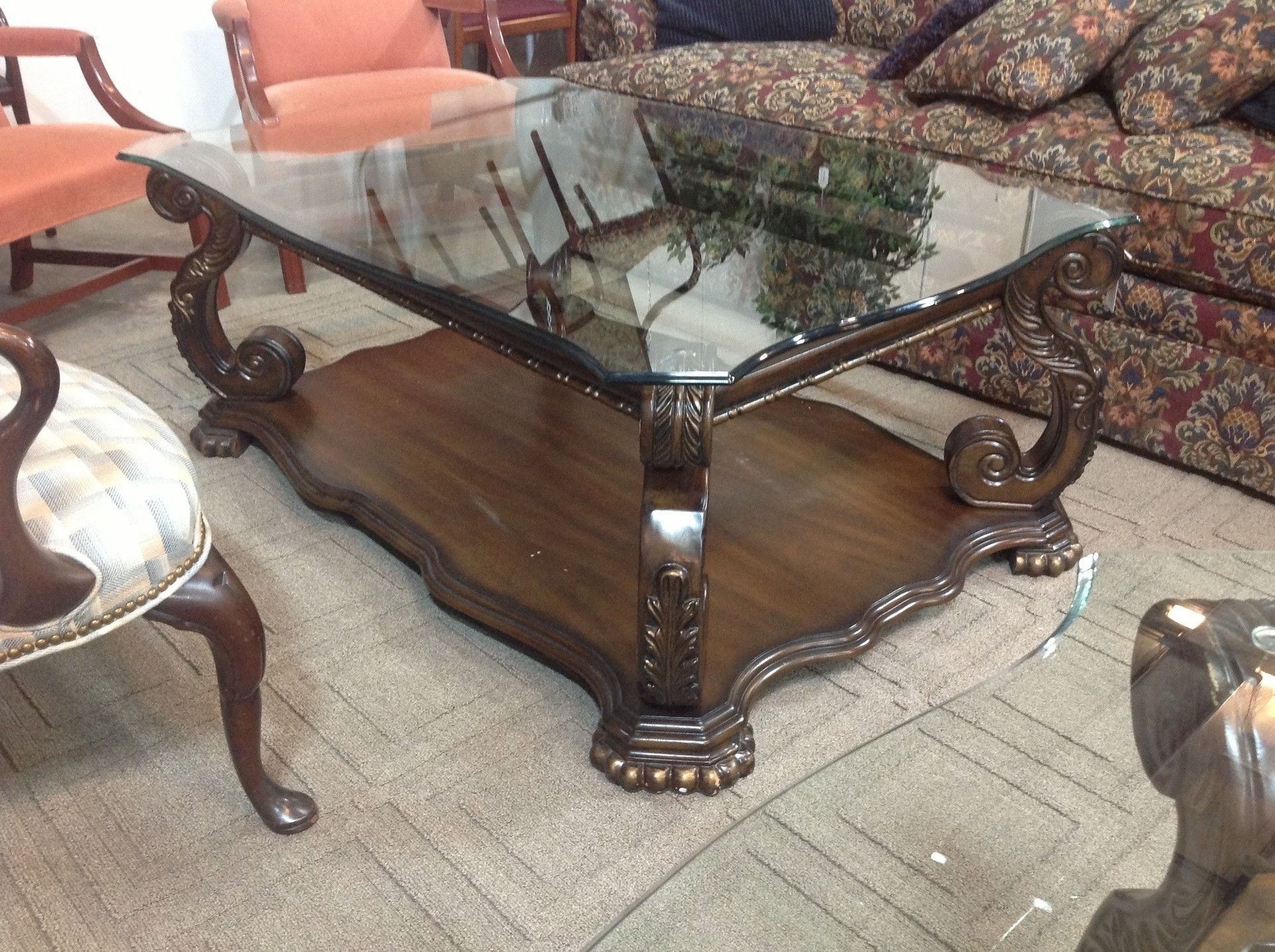 Traditional Coffee Table Sets Glass Top – Thelightlaughed Intended For Best And Newest Traditional Coffee Tables (View 18 of 20)