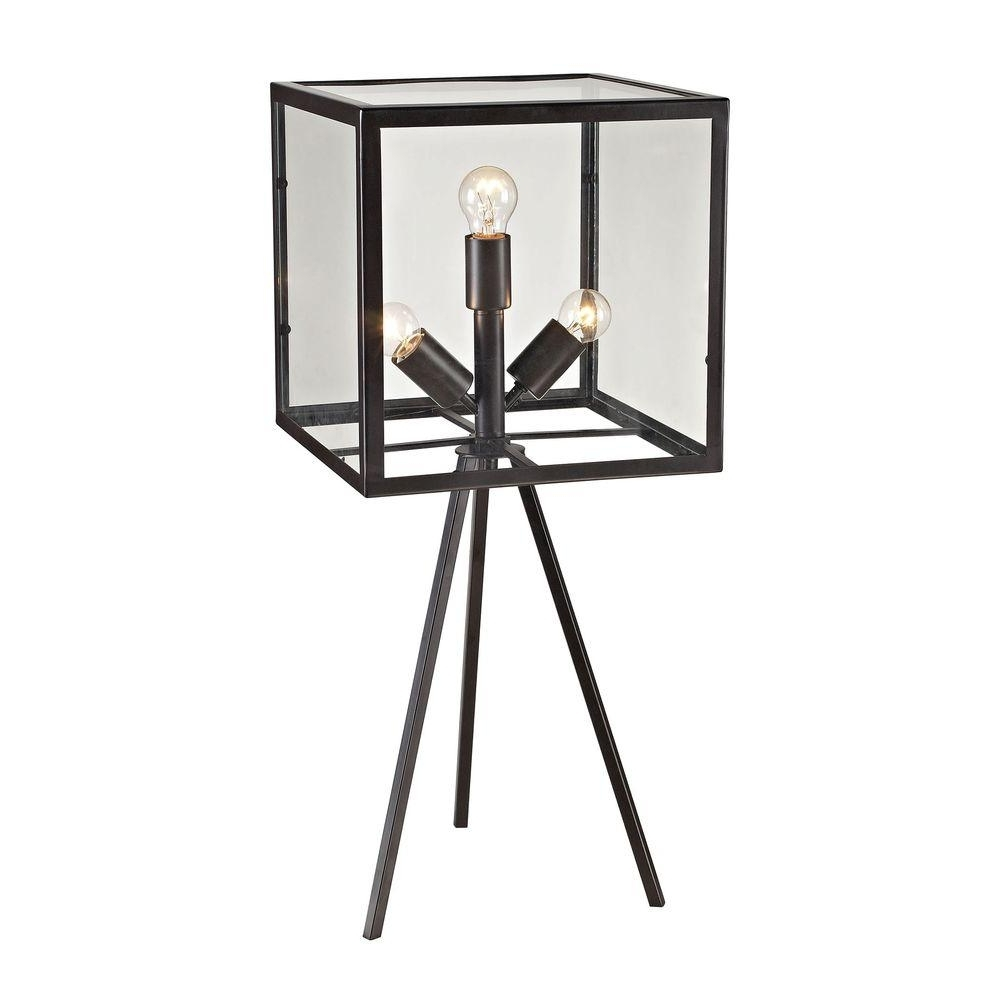 Trendy Aged Iron Cube Tables Regarding Titan Lighting Workshop Glass 28 In (View 6 of 20)