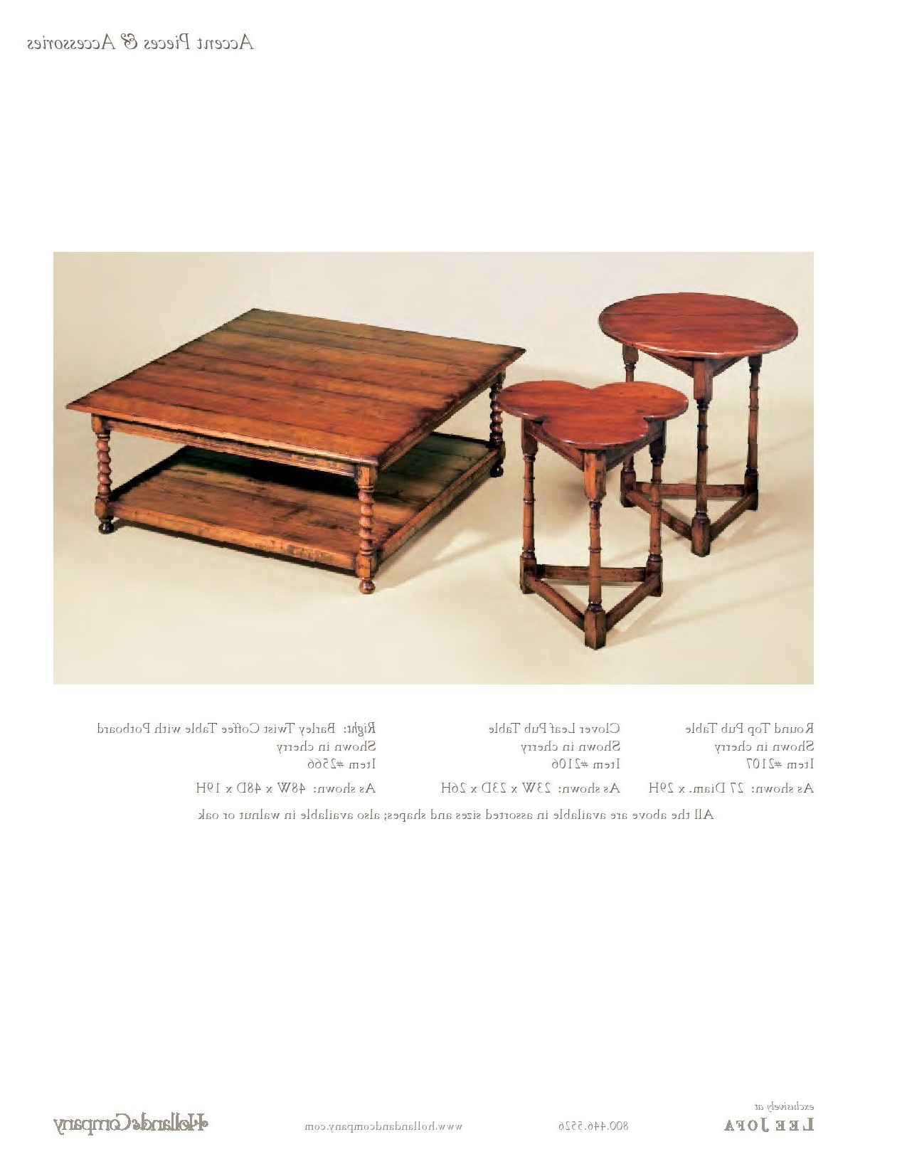 Trendy Barley Twist Coffee Tables Intended For Holland & Company – Coffee Tables – Barley Twist Coffee Table (View 9 of 20)
