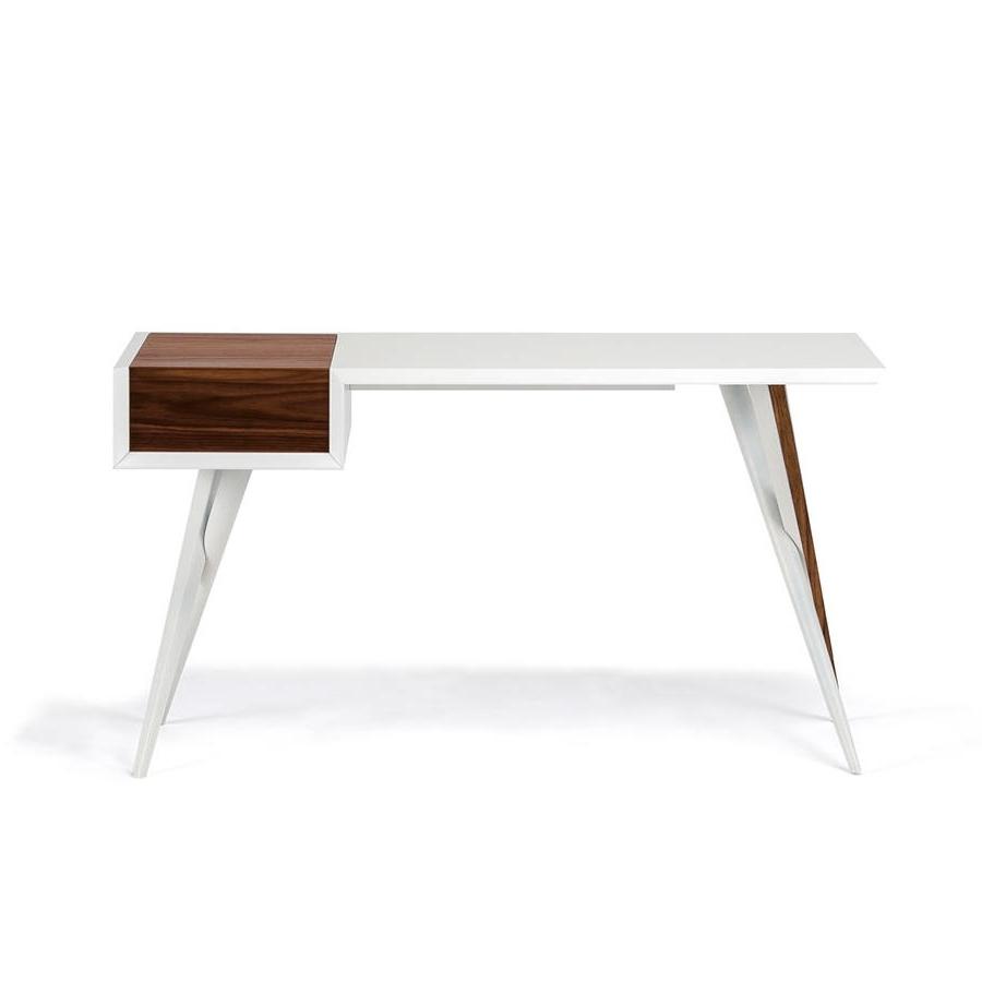 Trendy Batik Coffee Tables Intended For Batik Desk/dresser White & Walnut – Central Living (View 11 of 20)