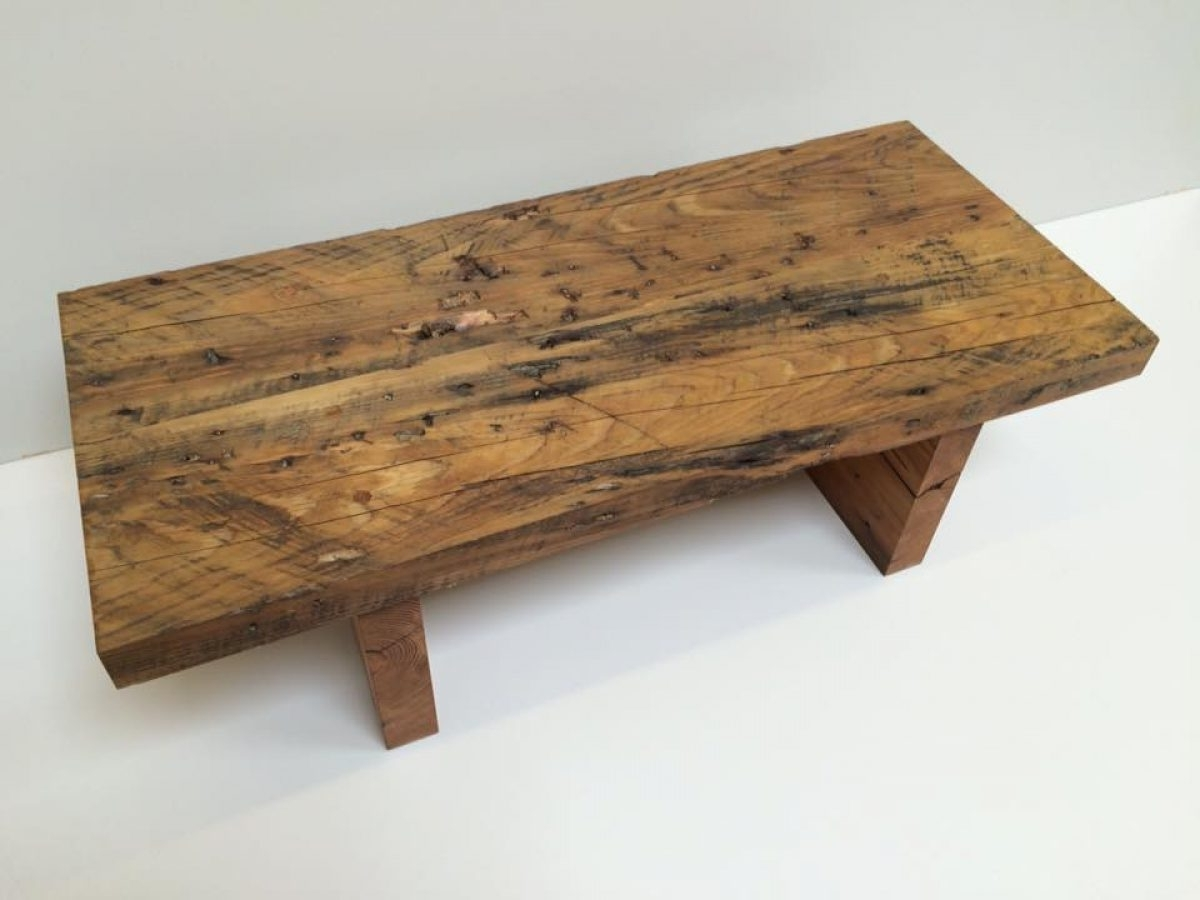 Trendy Reclaimed Pine Coffee Tables Within Reclaimed Pine Coffee Table – Coleman & Edwards Makers Of Fine Furniture (View 16 of 20)