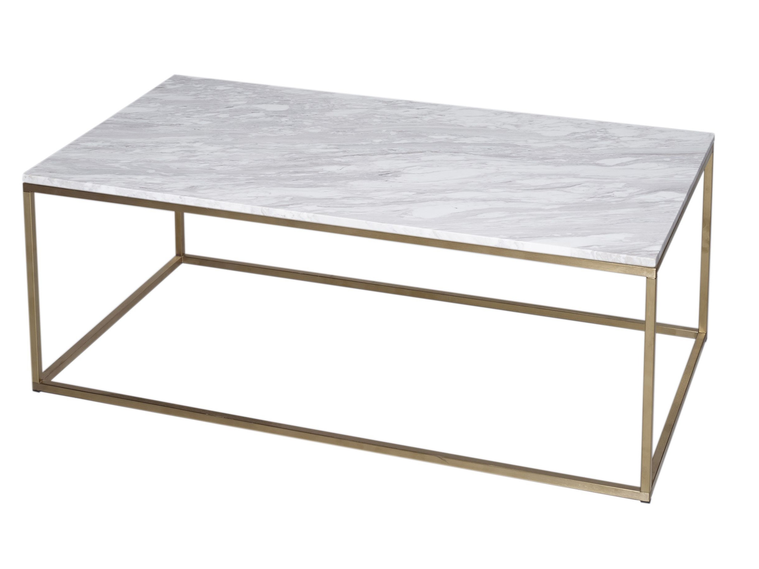 Trendy Rectangular Coffee Tables With Brass Legs With Regard To Rectangular Coffee Table – Kensal Marble With Brass Base (View 2 of 20)