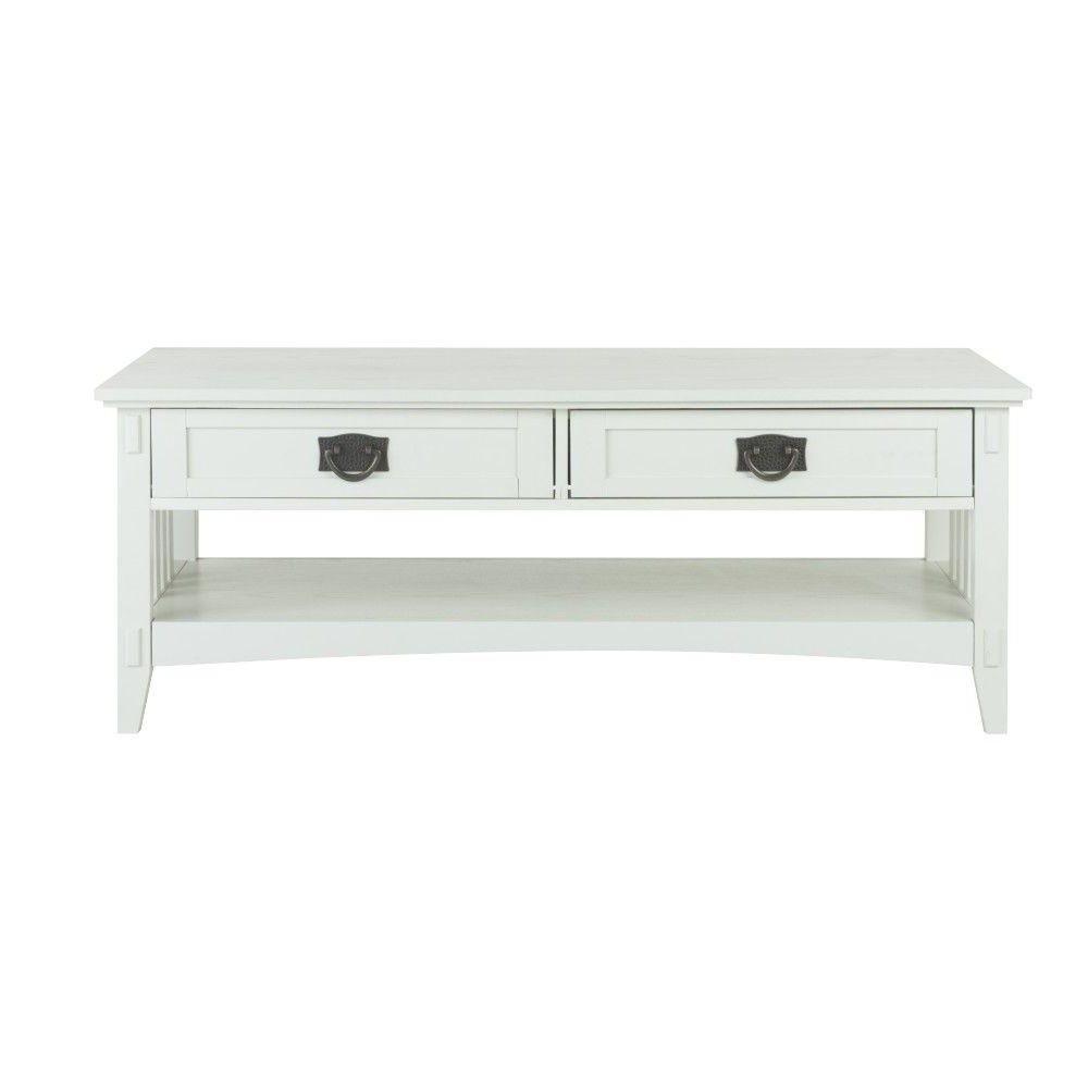 Trendy White Wash 2 Drawer/1 Door Coffee Tables Throughout Home Decorators Collection – Coffee Tables – Accent Tables – The (View 5 of 20)