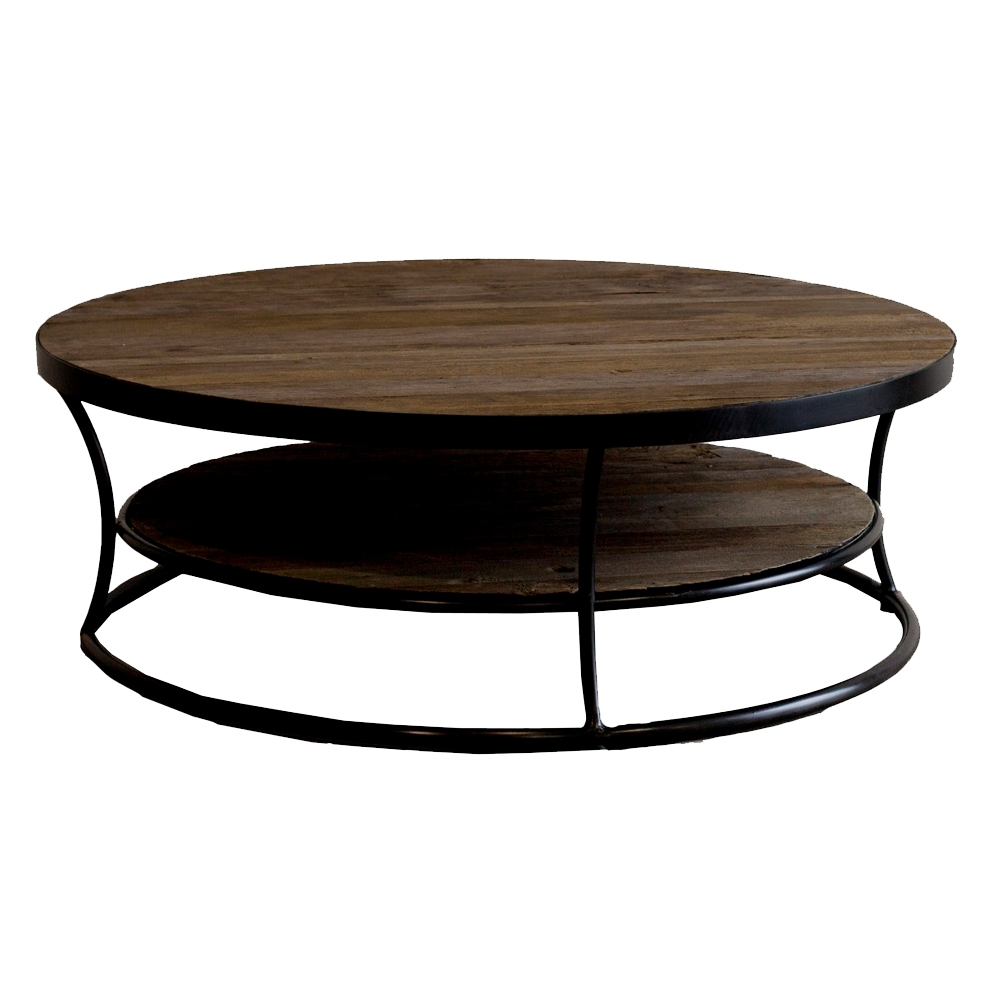 Trunk Round Coffee Table Distressed – Projecthamad Pertaining To Most Popular Bale Rustic Grey Round Cocktail Tables With Storage (View 8 of 20)
