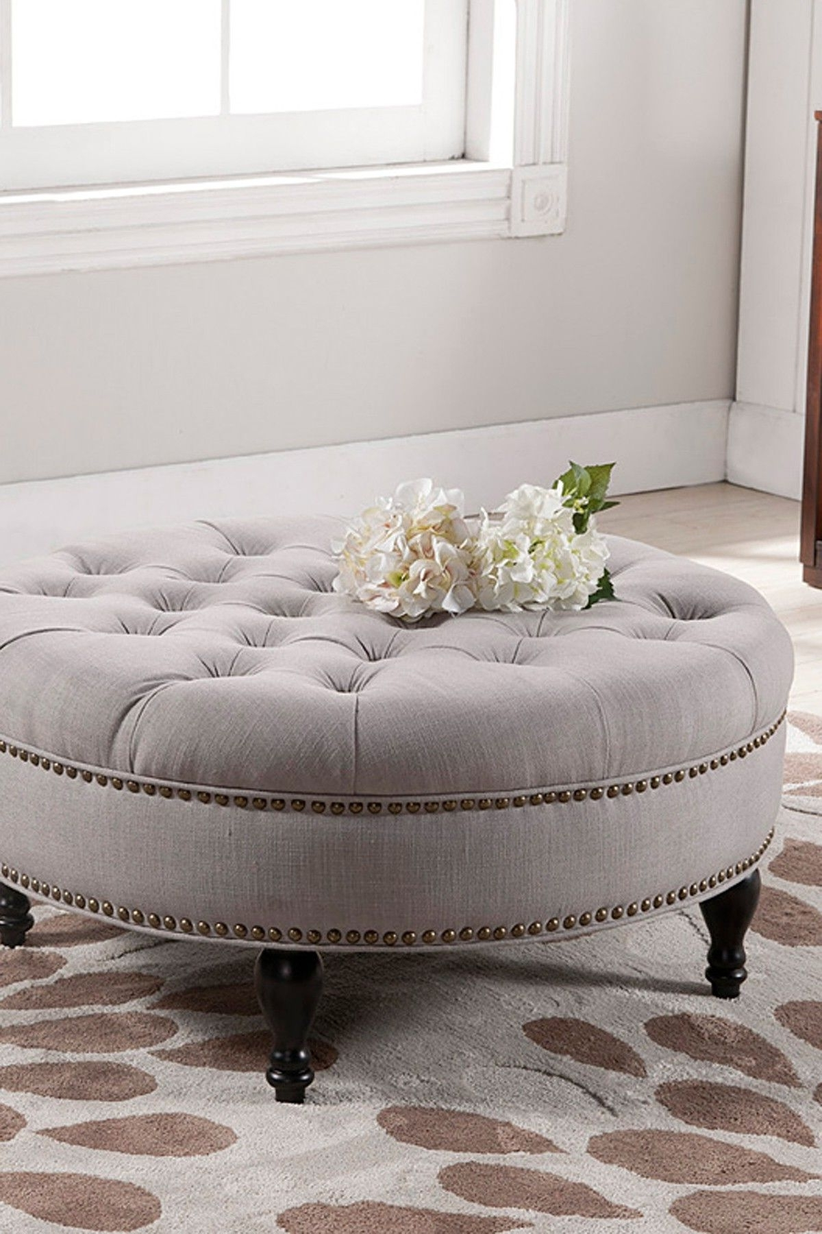 Tufted Ottoman (View 17 of 20)