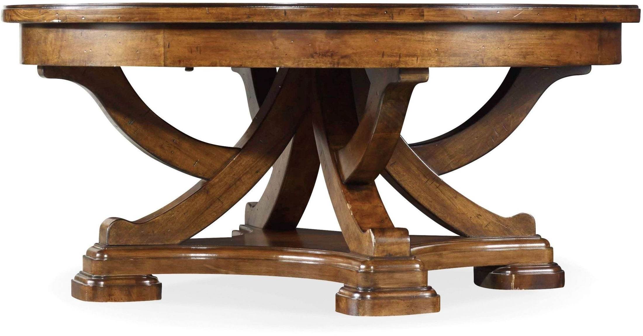 Tynecastle Brown Round Cocktail Table From Hooker (View 17 of 20)