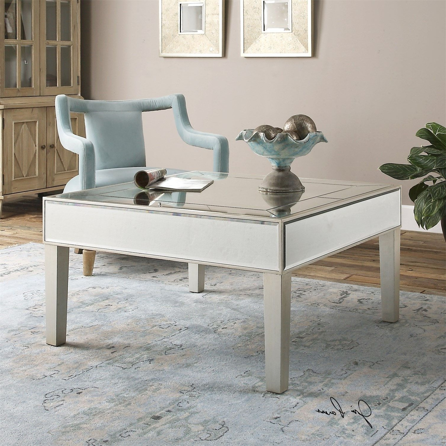 Uttermost 24522 Enrikos Mirrored Coffee Table (View 9 of 20)