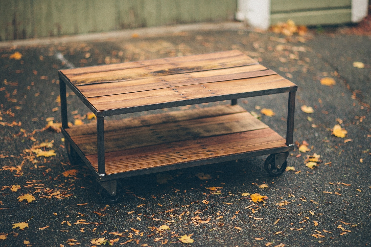 Vintage Casters: Perfect For A Reclaimed Wood Coffee Table In Current Autumn Cocktail Tables With Casters (View 19 of 20)