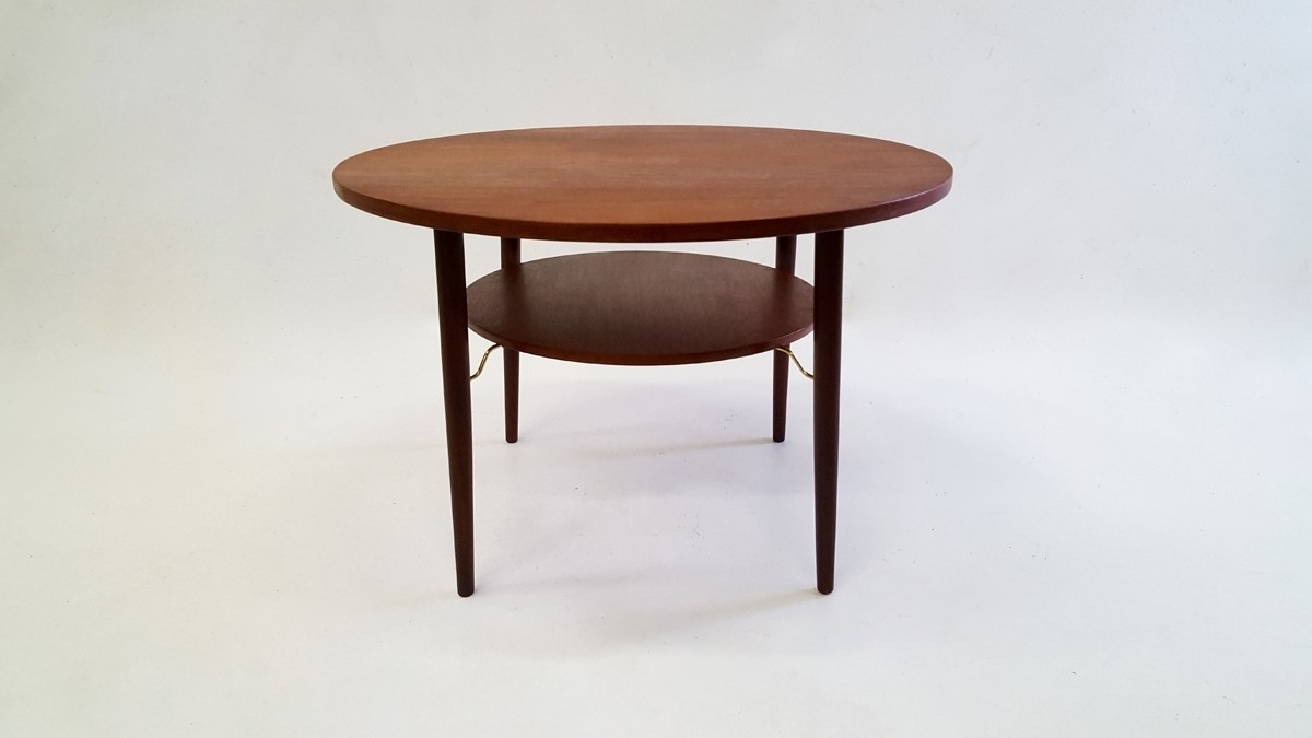 Vintage Scandinavian Design Round Teak Coffee Table In Teak – 1960s Regarding Most Popular Round Teak Coffee Tables (View 14 of 20)