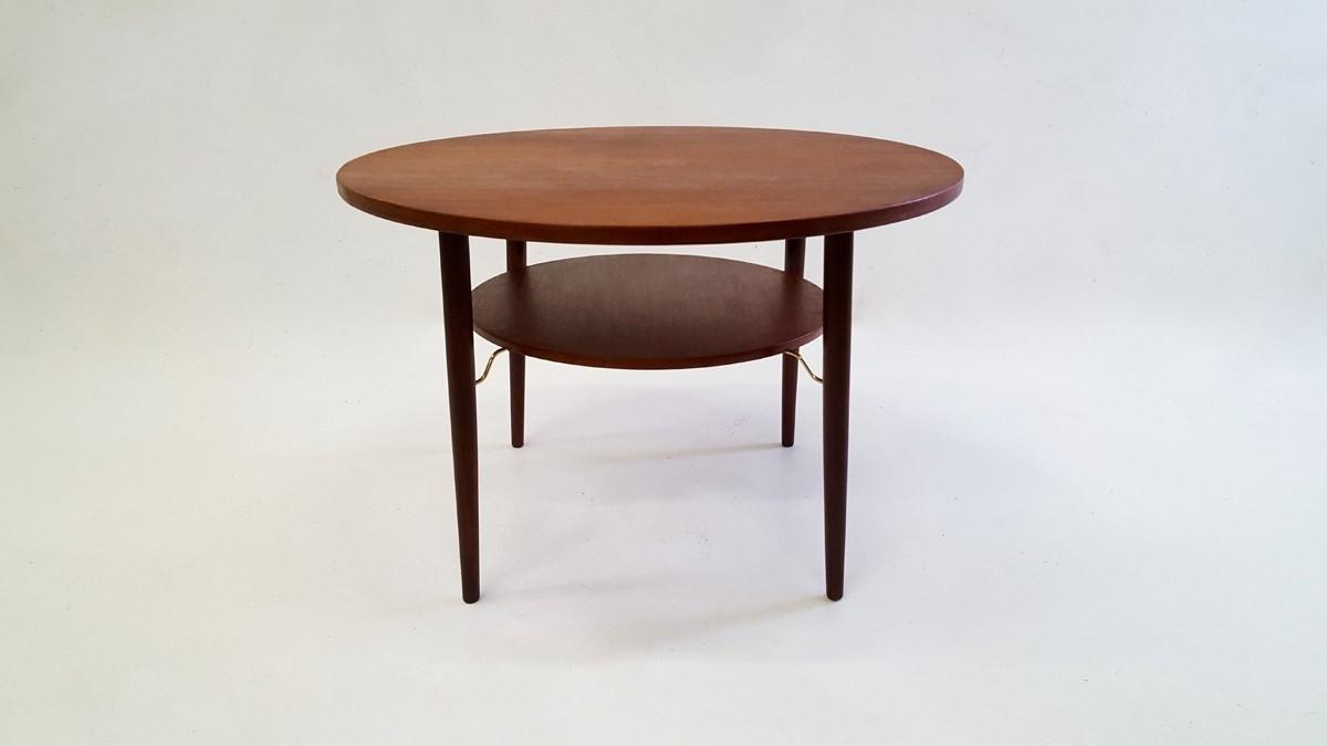 Vintage Scandinavian Design Round Teak Coffee Table In Teak – 1960S Regarding Most Popular Round Teak Coffee Tables (View 20 of 20)